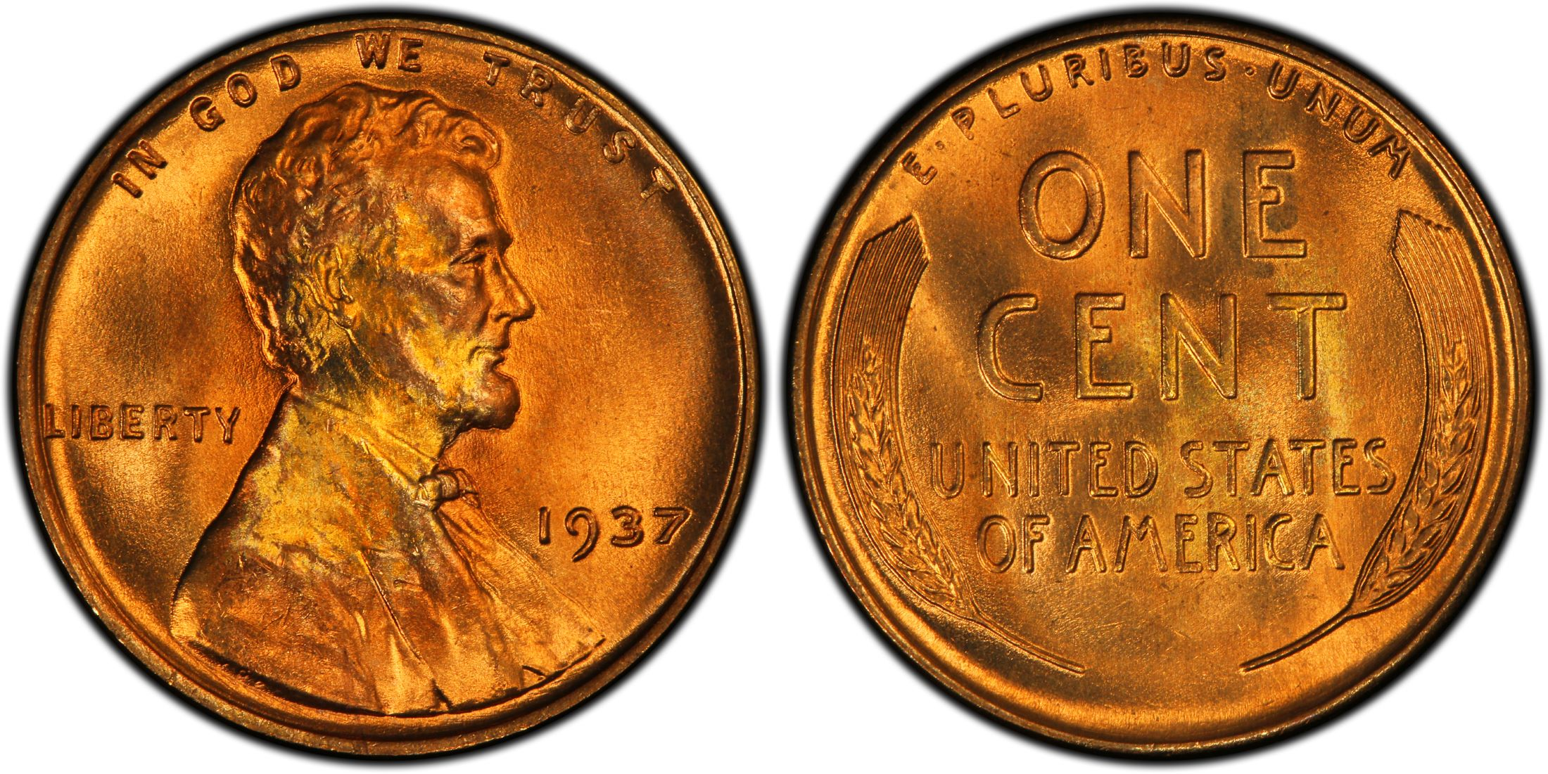 1937-P  Lincoln Wheat Cent PCGS MS 66 RD