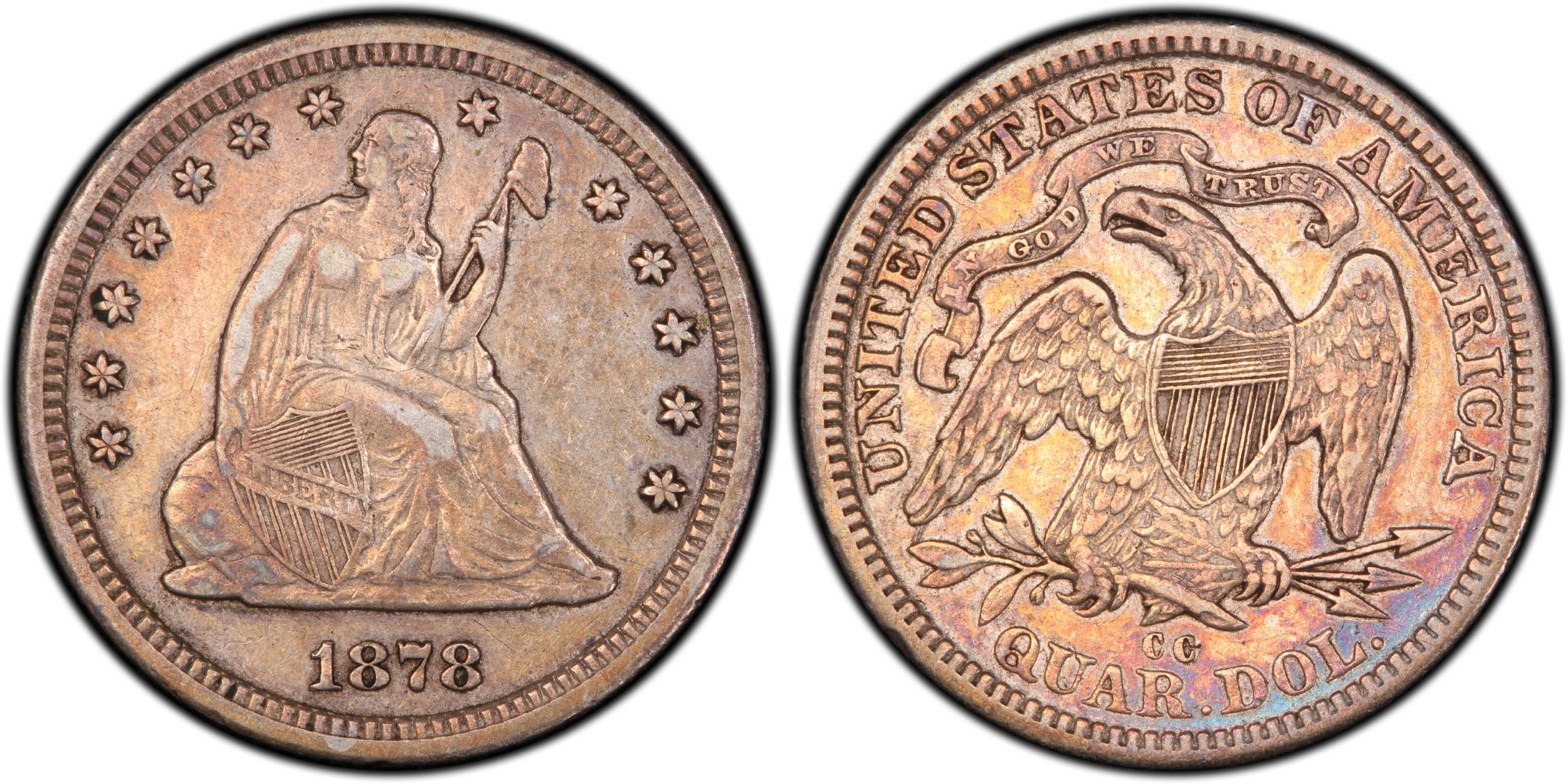 GFRC Open Set Registry - BIG BLUE 1878 Seated  25C