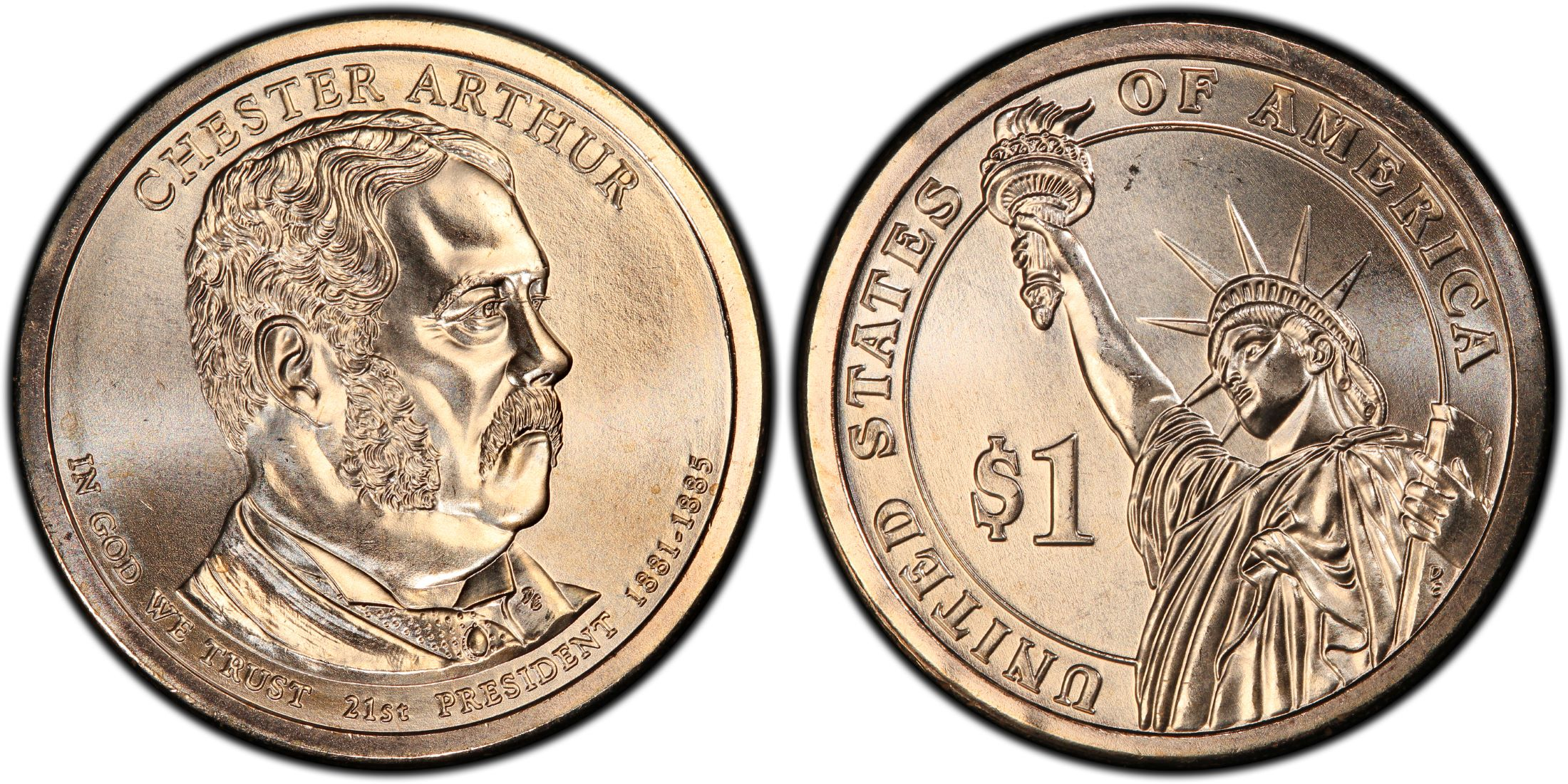 P 2012 Chester Arthur Presidential $1 Coin Roll