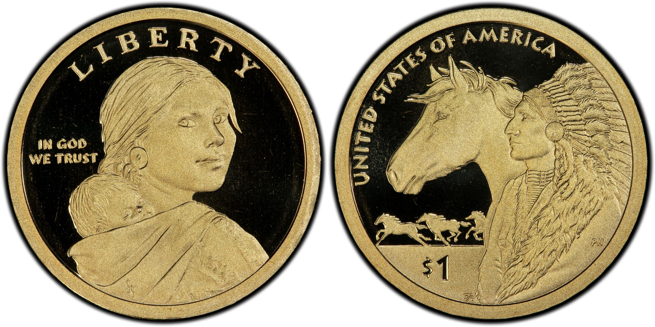 2013 S AND 2014 S Gem Proof Sacagawea Dollars Set of TWO