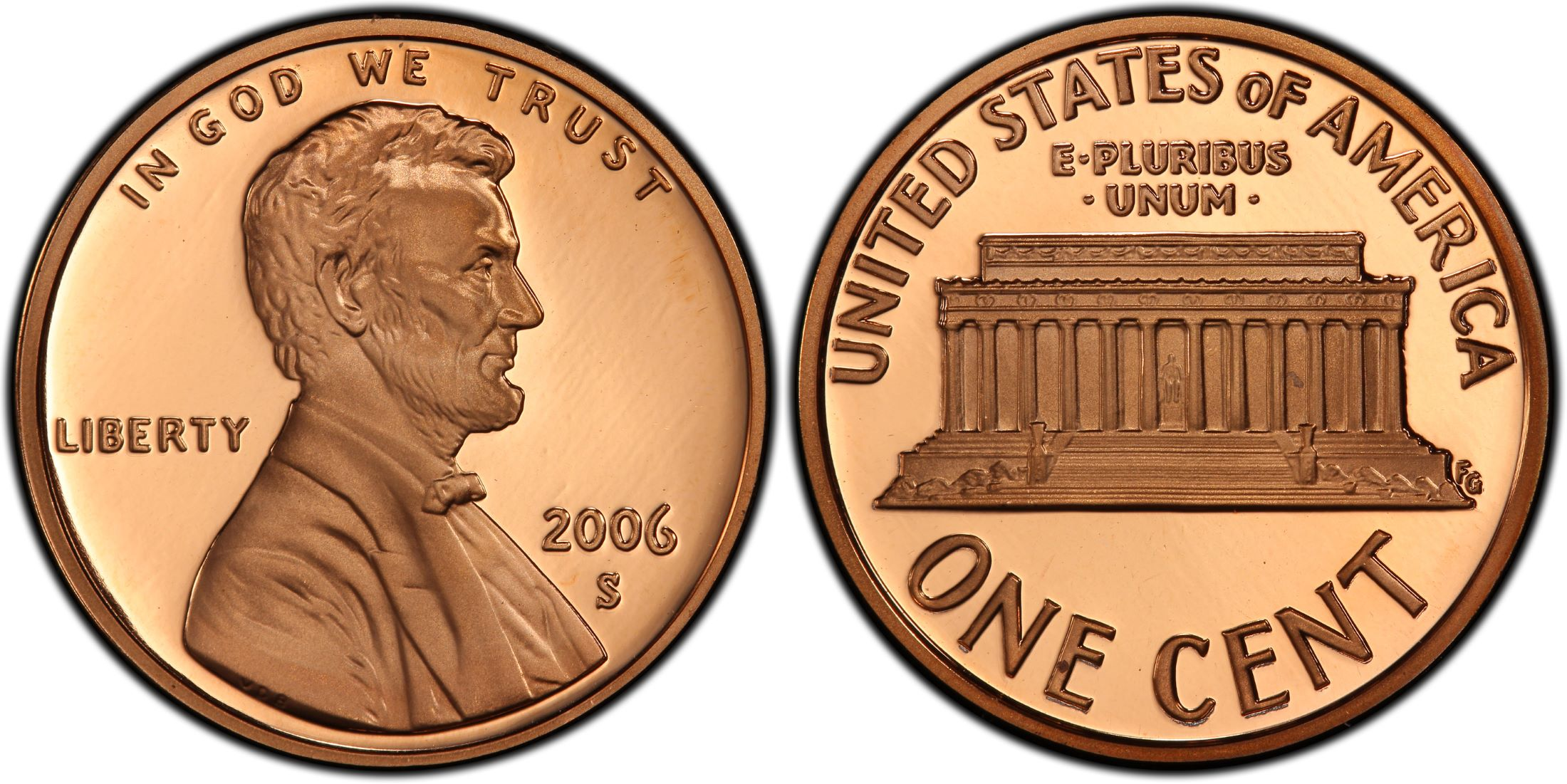 2006 S Proof Lincoln Memorial Cent PCGS PR 69 RD DCAM Red Deep Cameo