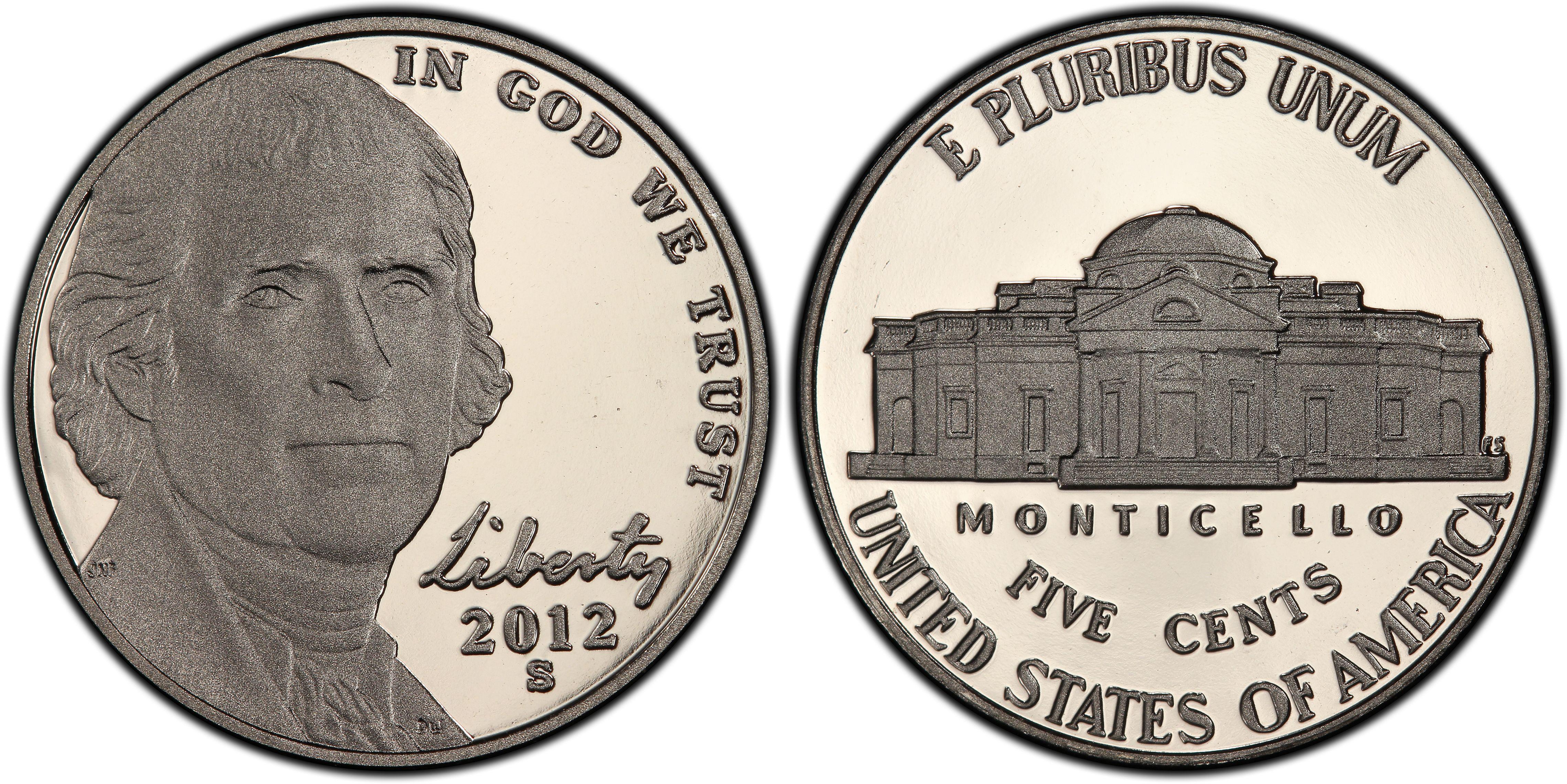Proof 2012-S 5C DC Jefferson Nickel