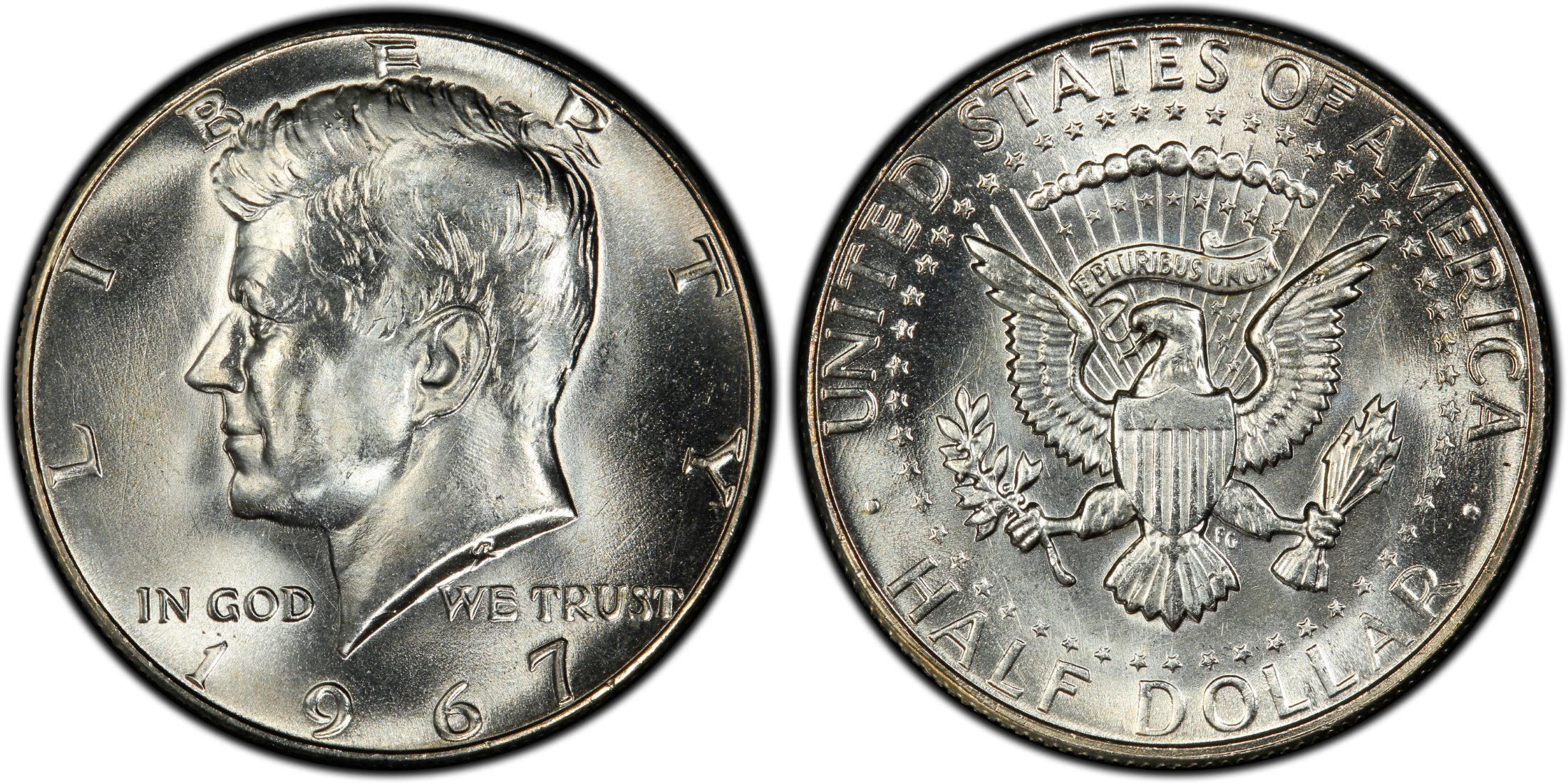 1967 50C (Regular Strike) Kennedy Half Dollar - PCGS CoinFacts