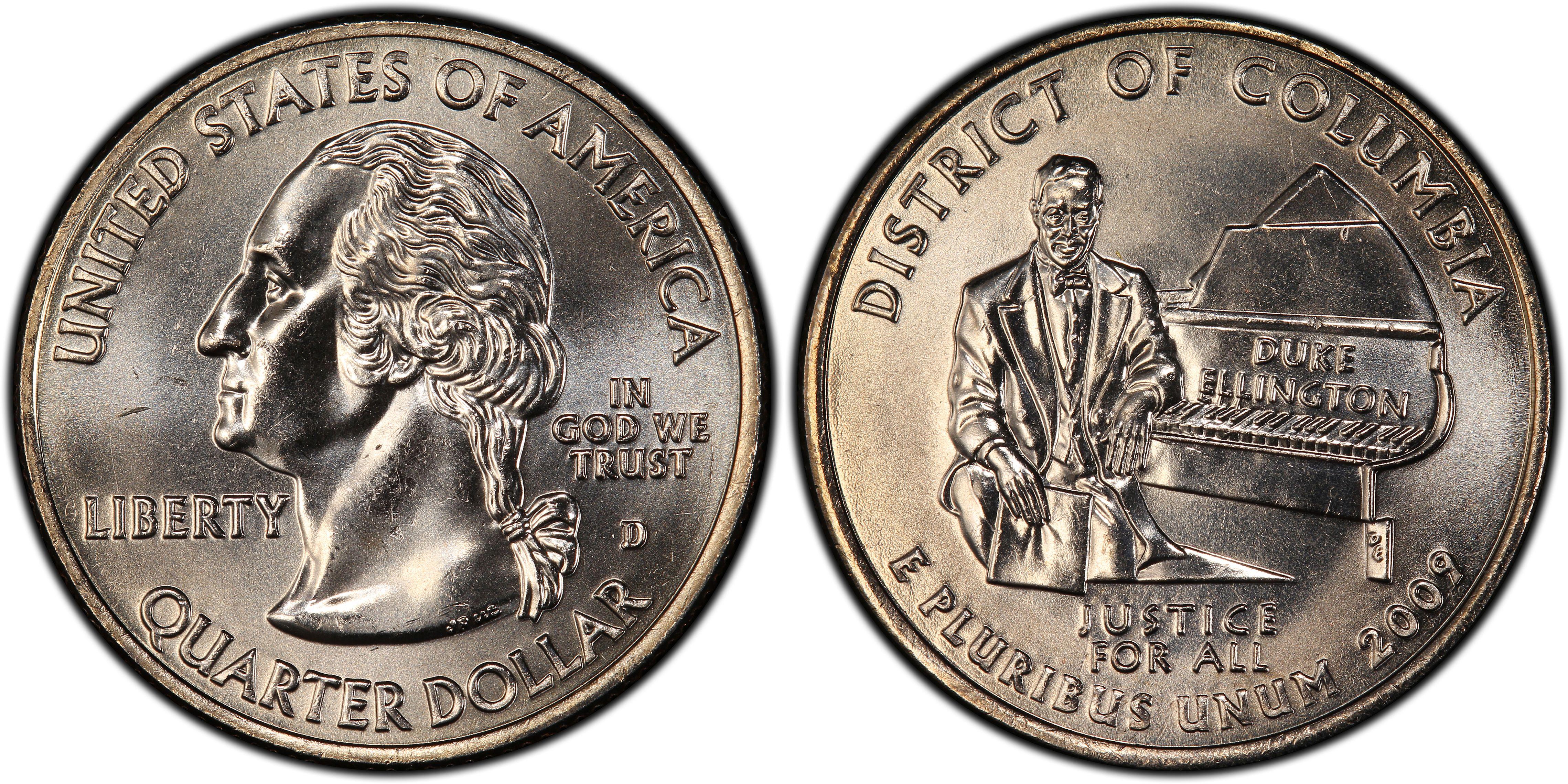 "Mint /""BU/"" Coin D.C. 2009 D District of Columbia Territorial Quarter New U.S"