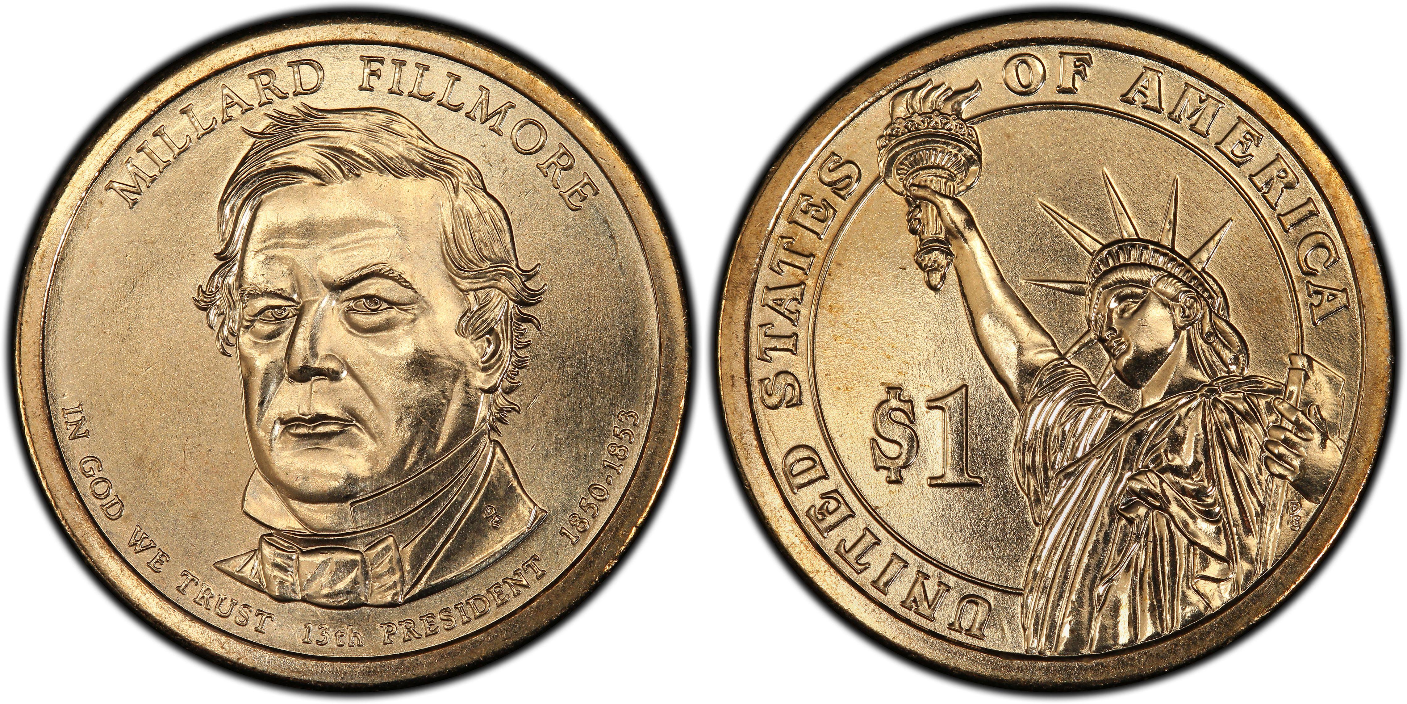 millard fillmore dollar coin