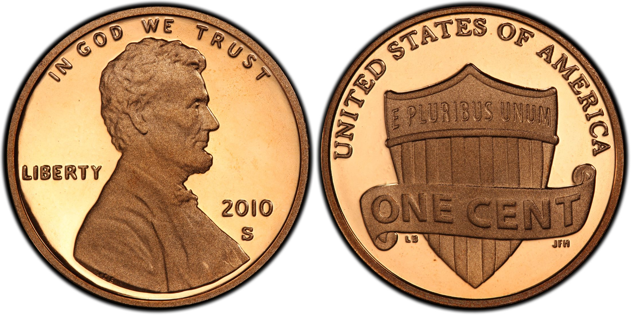 """2010 /""""S/"""" 1C PCGS 70 DCAM Proof Lincoln Shield Cent"""