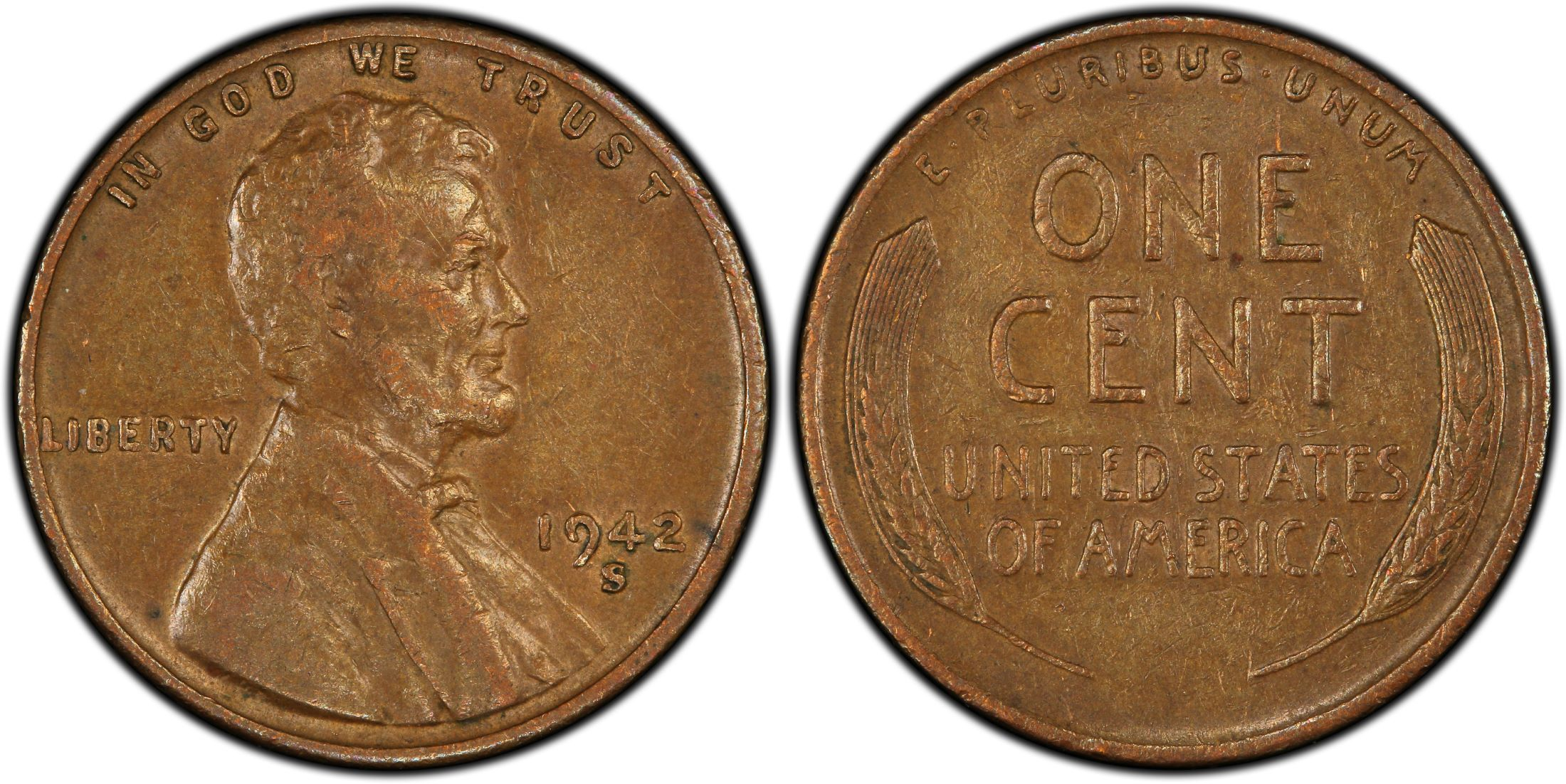 1942-D Lincoln Wheat Ears Reverse One Cent PCGS MS66RD