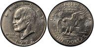 1972-D $1  AU58
