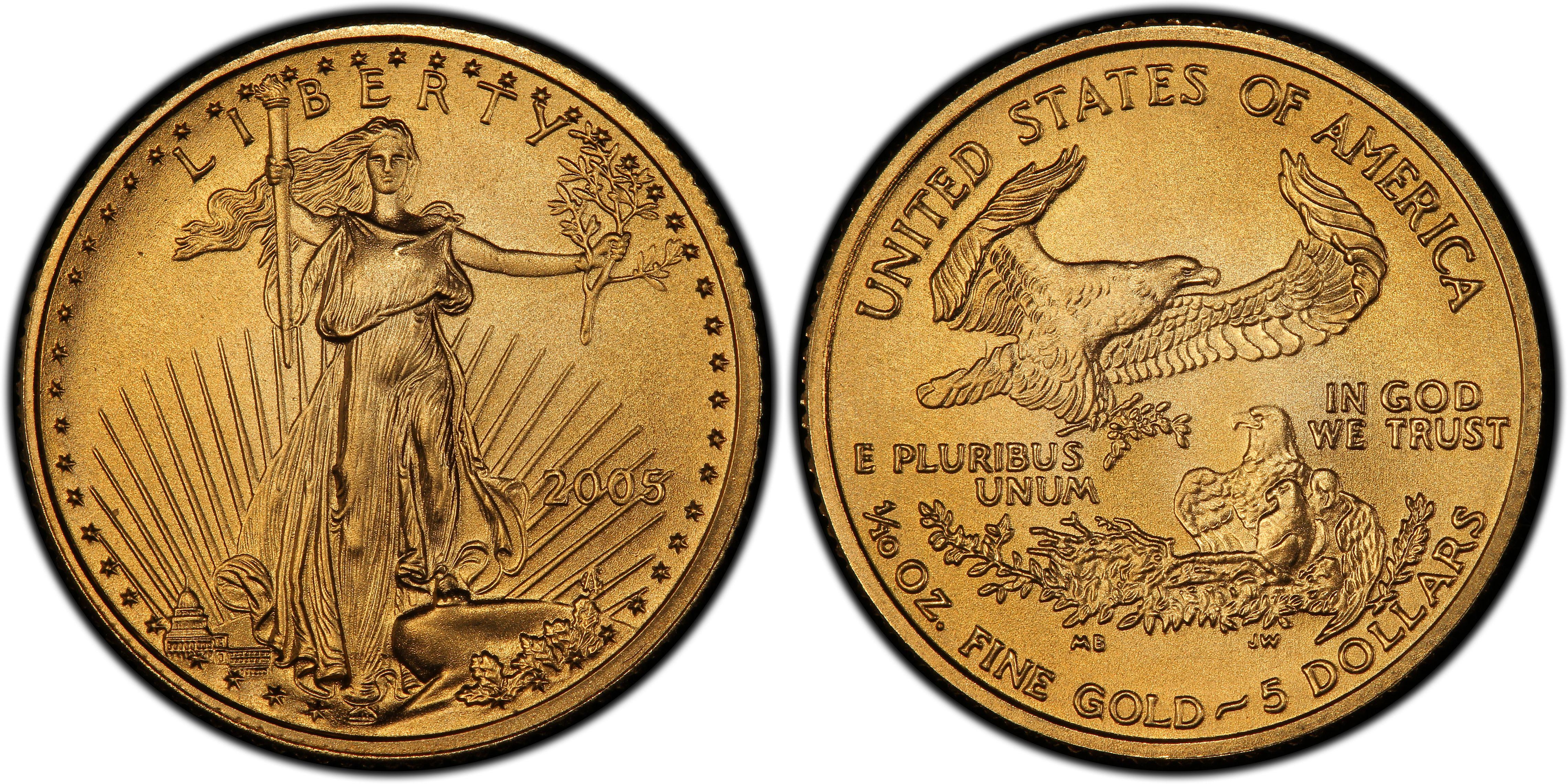 2005 GOLD AMERICAN EAGLE FIVE $5 DOLLAR COIN