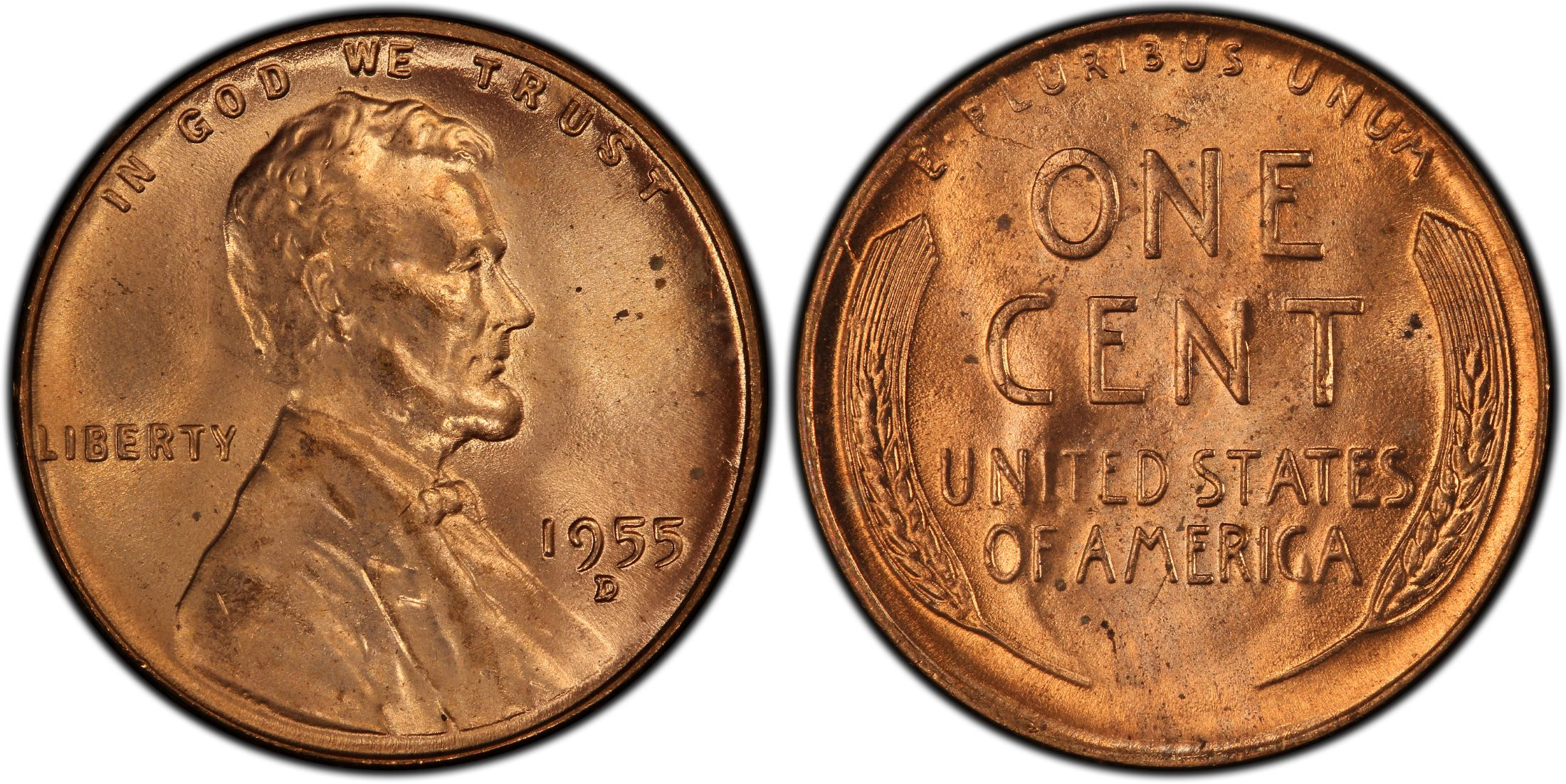 1955 D Denver Lincoln Wheat Cent NGC MS 65 RD--Price per One Coin High Grade