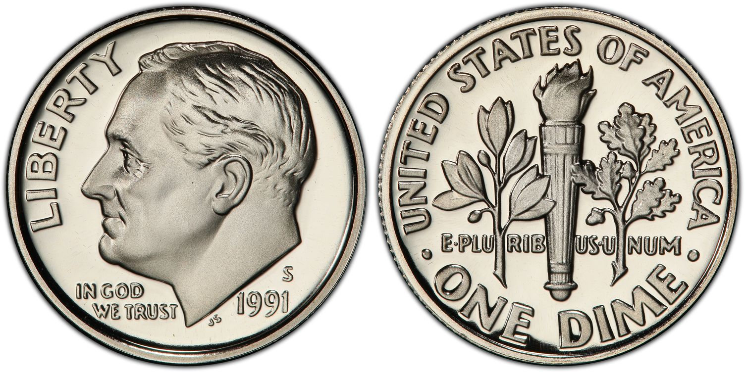 1991-S PROOF ROOSEVELT DIME