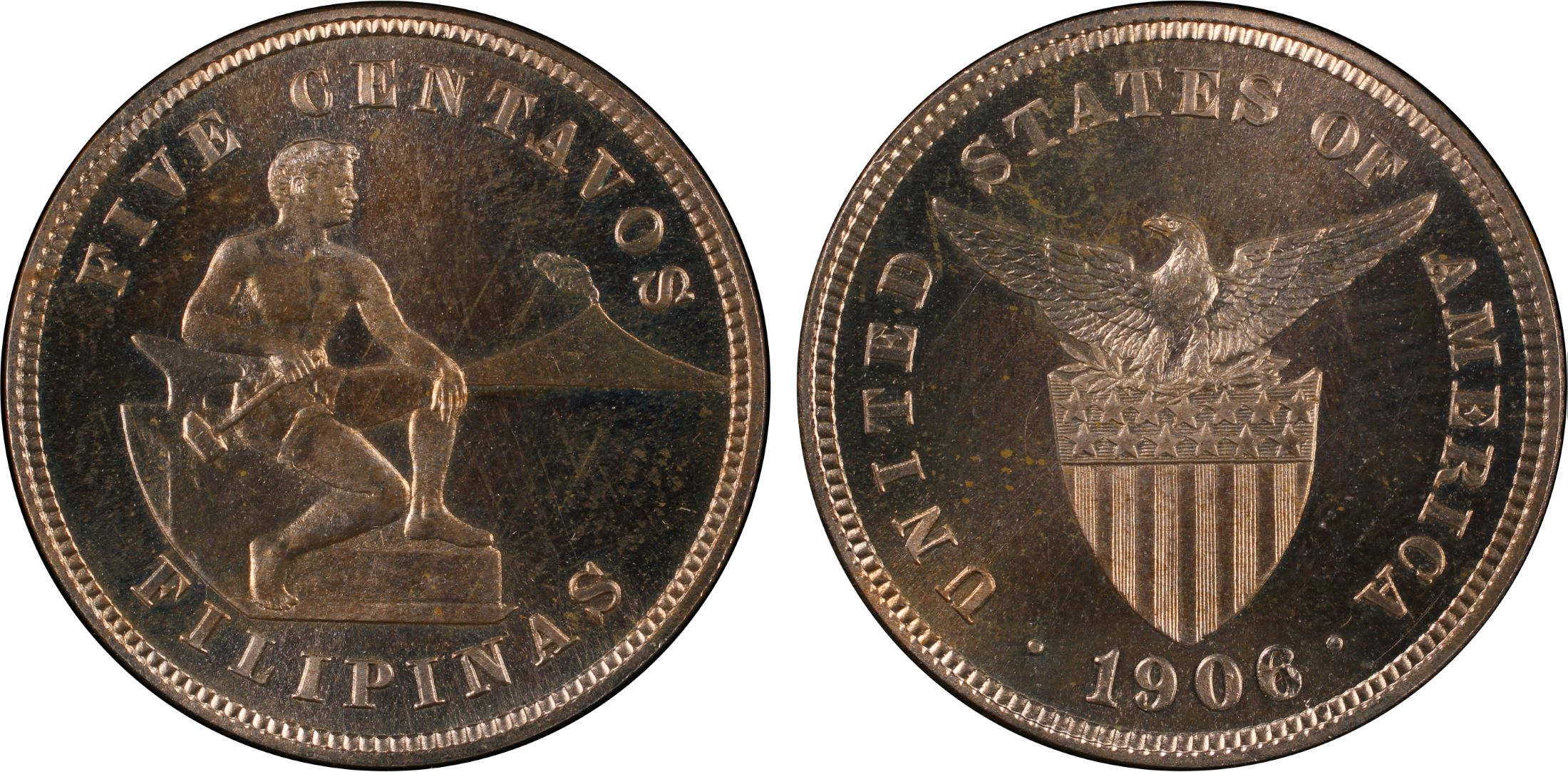 1906 coin philippines