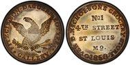 (1850) Token Miller Mo-22 Brass N1