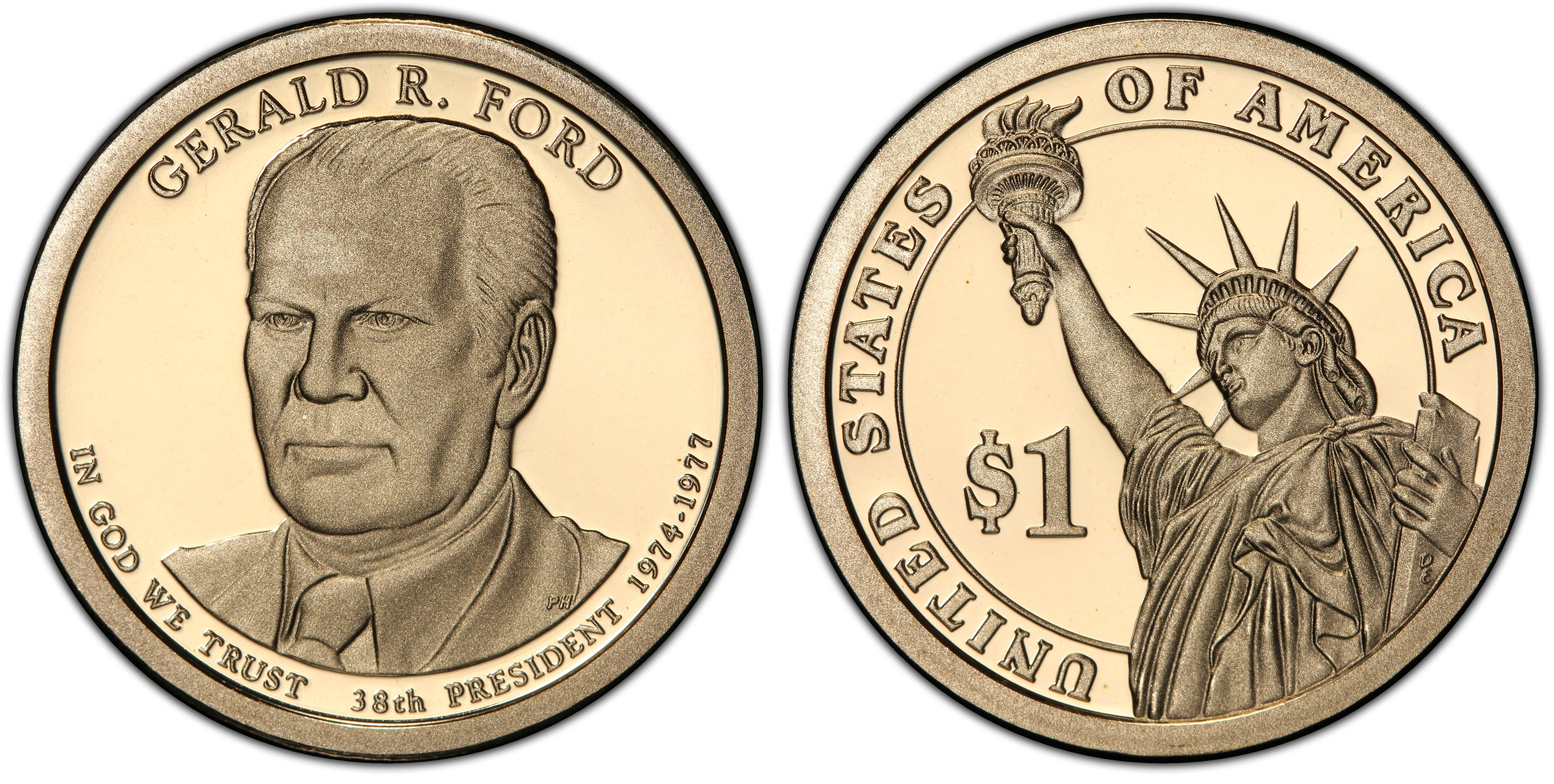 2016-S Gerald Ford 38th  Presidential Dollar PCGS First Day of Issue PR69DCAM