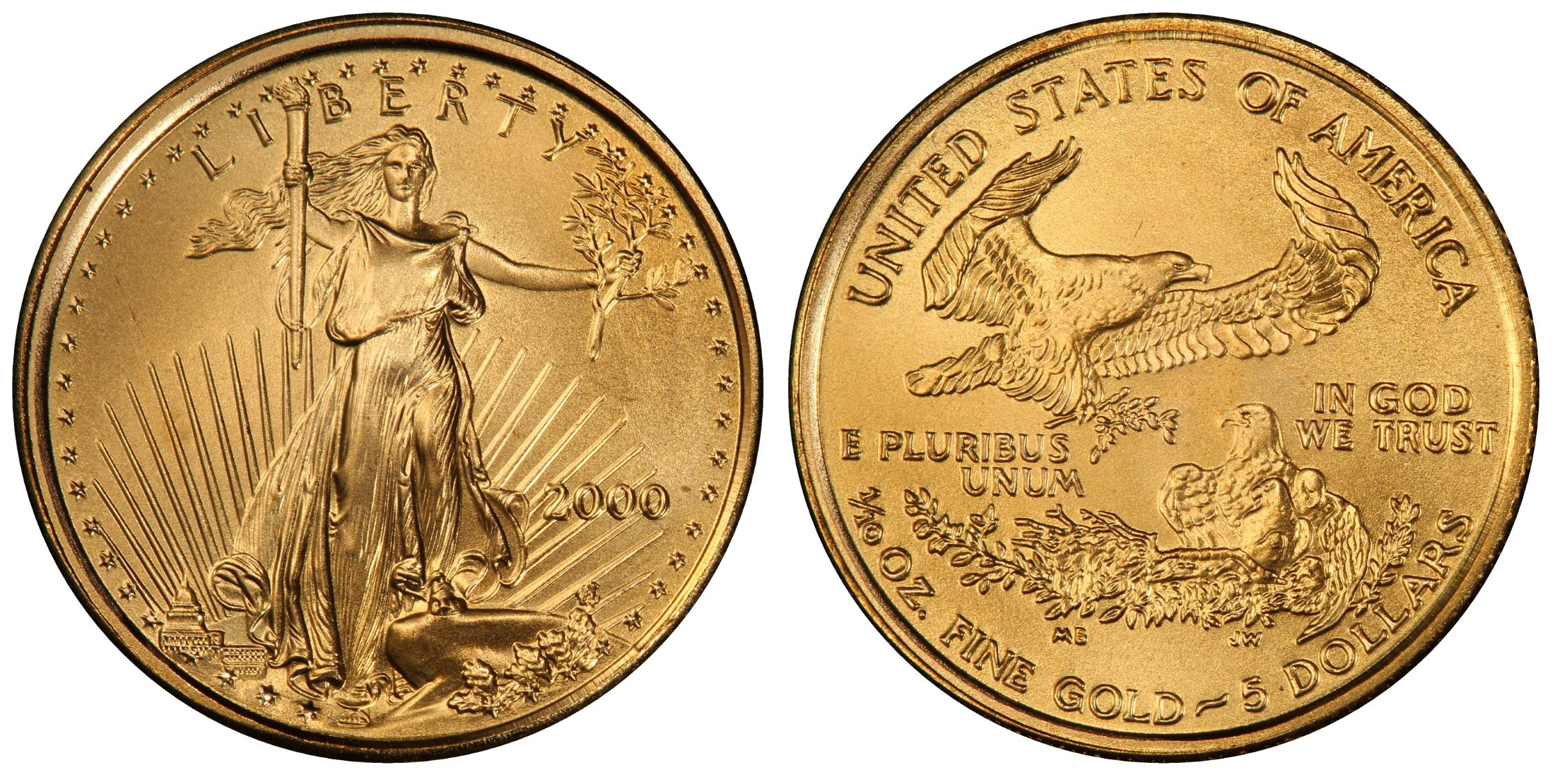 2000 5 Gold Eagle Regular Strike