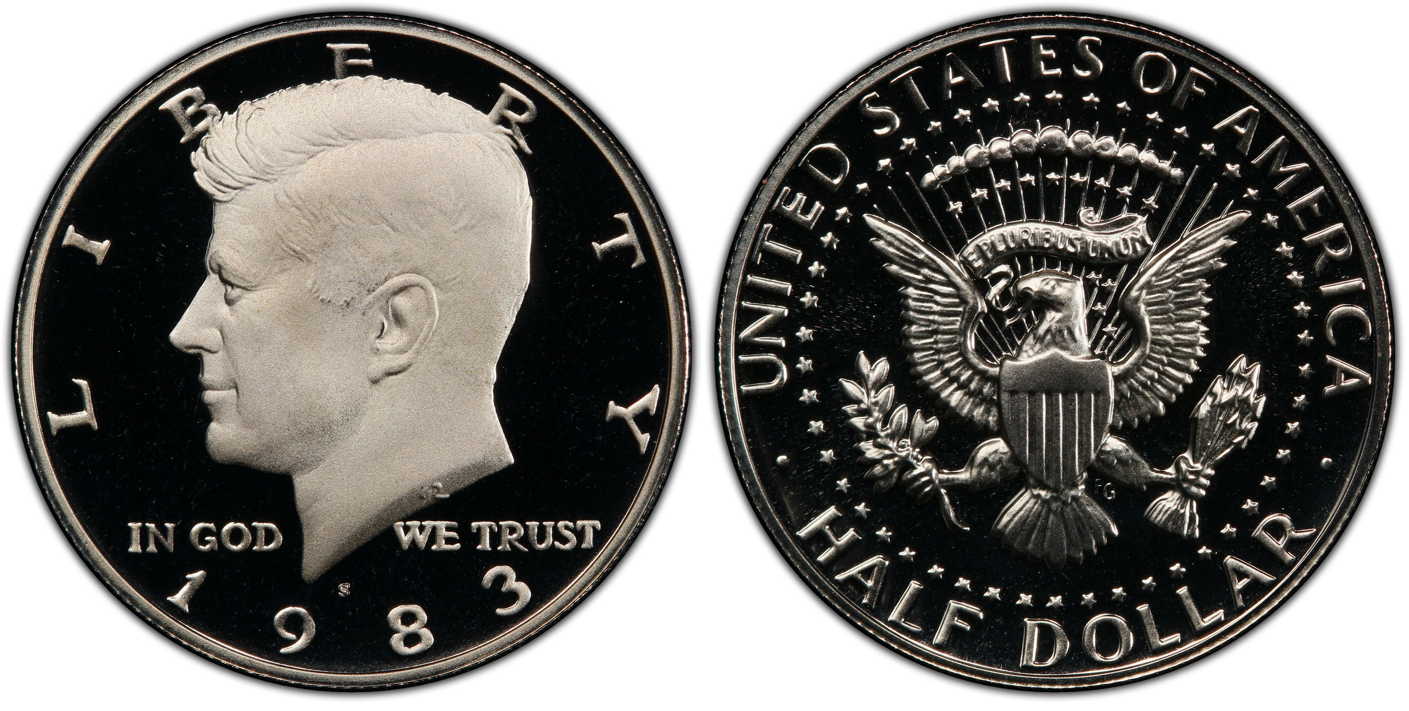 1987 S Proof John Kennedy Half Dollar With 2x2 Case DCameo Combined Shipping