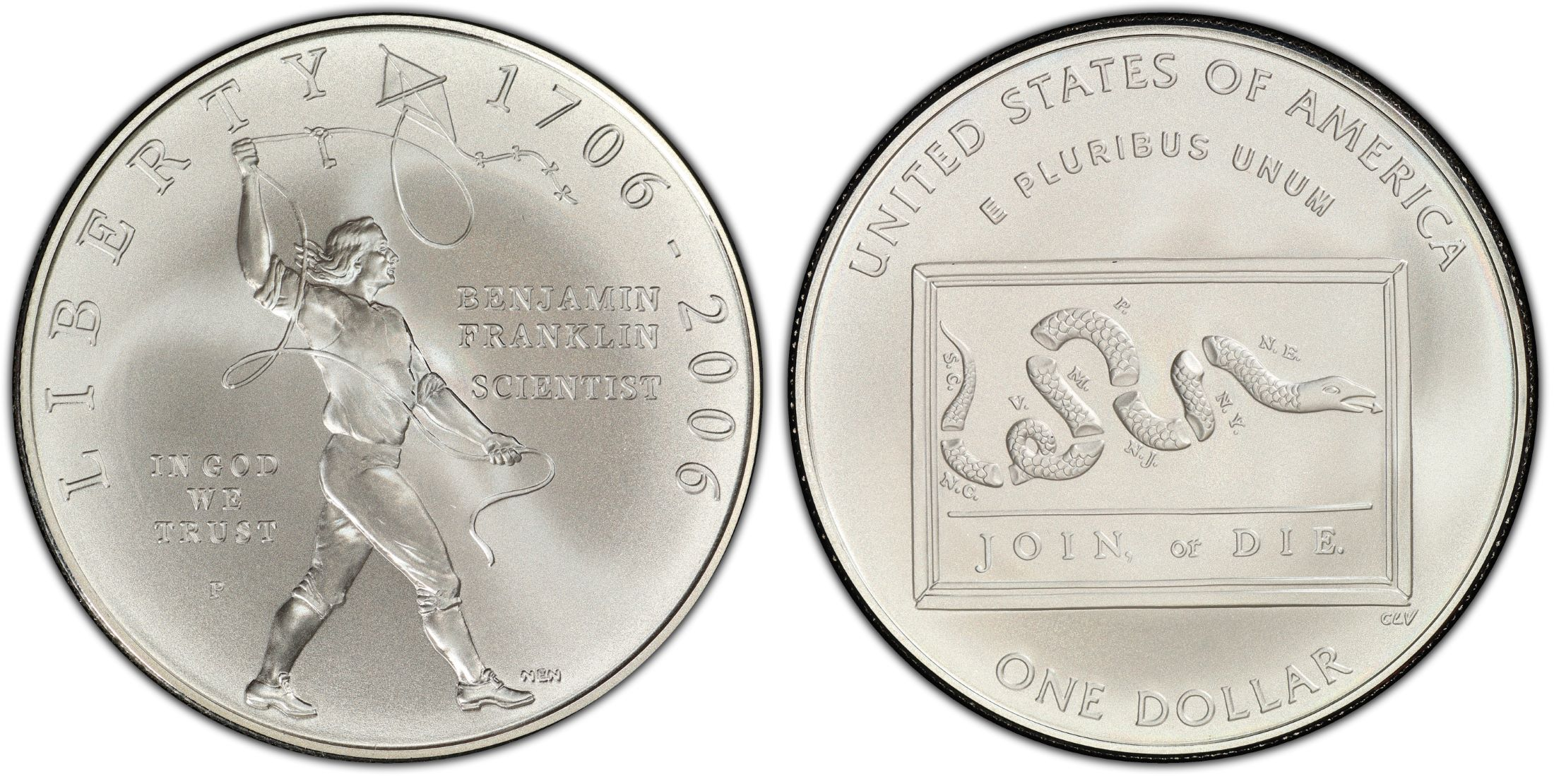 2006-P Franklin Founding Father Silver Commemorative Dollar PR69DCAM PCGS Proof
