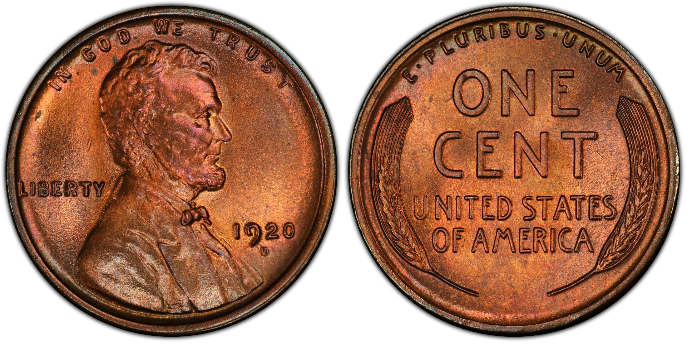 1920-P Lincoln Cent PCGS MS64RB
