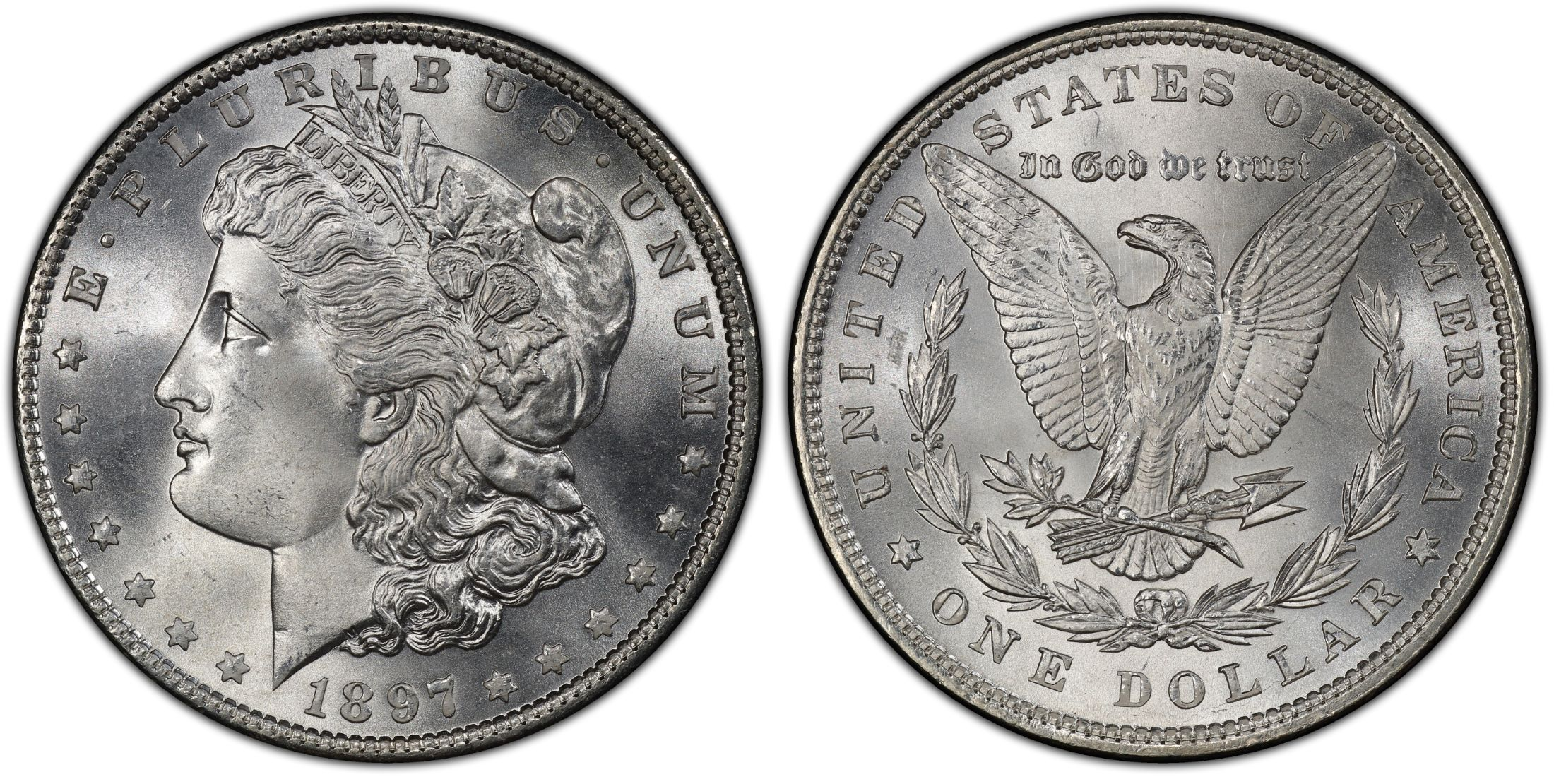 PCGS 1897  MS64 Morgan Dollars