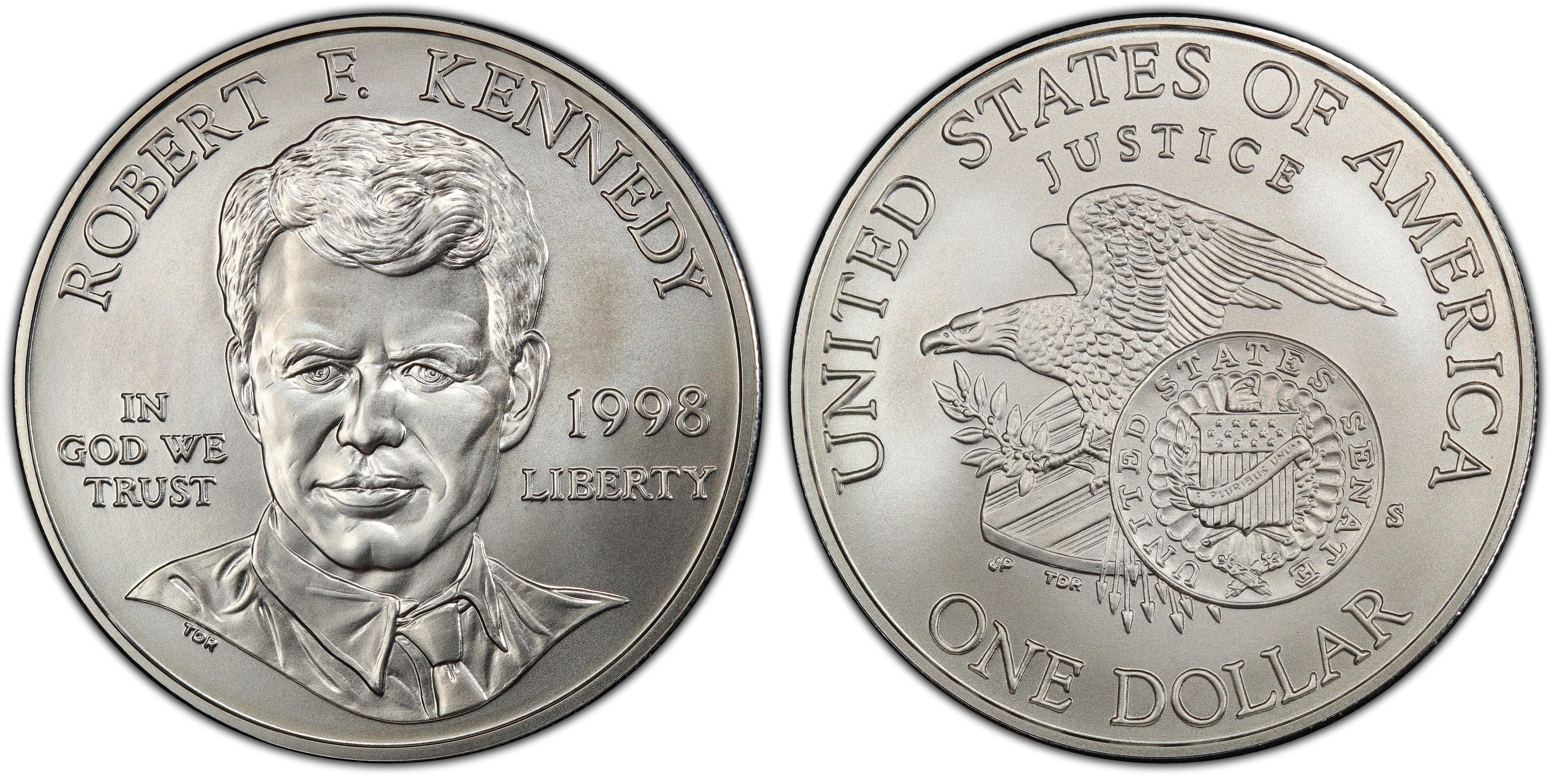1998-S PCGS MS69 RFK Commemorative Dollar New PCGS Label