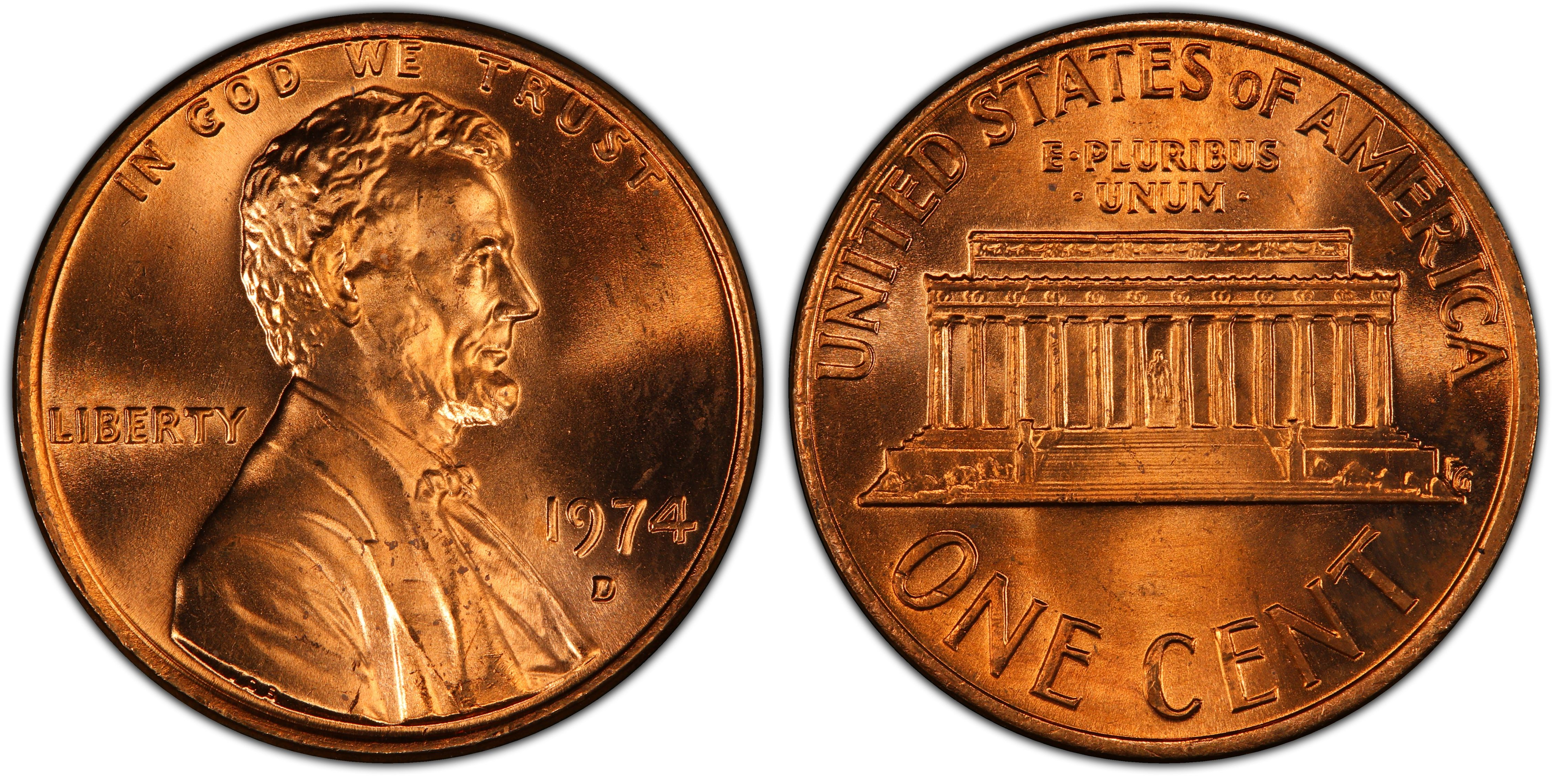 1974 d penny value