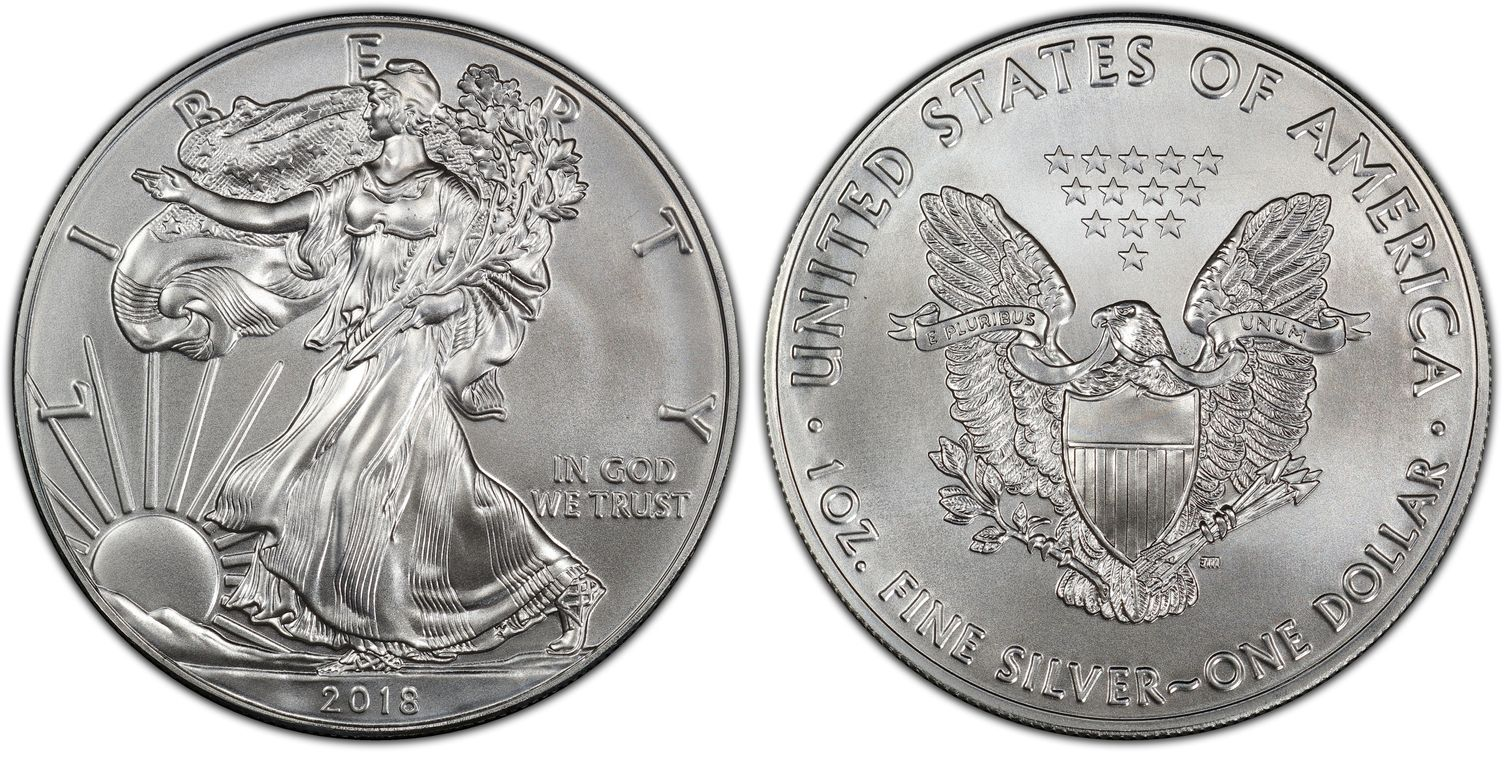 W 2018- $1 PCGS MS70 First Strike Struck at West Point Silver American Eagle!!!