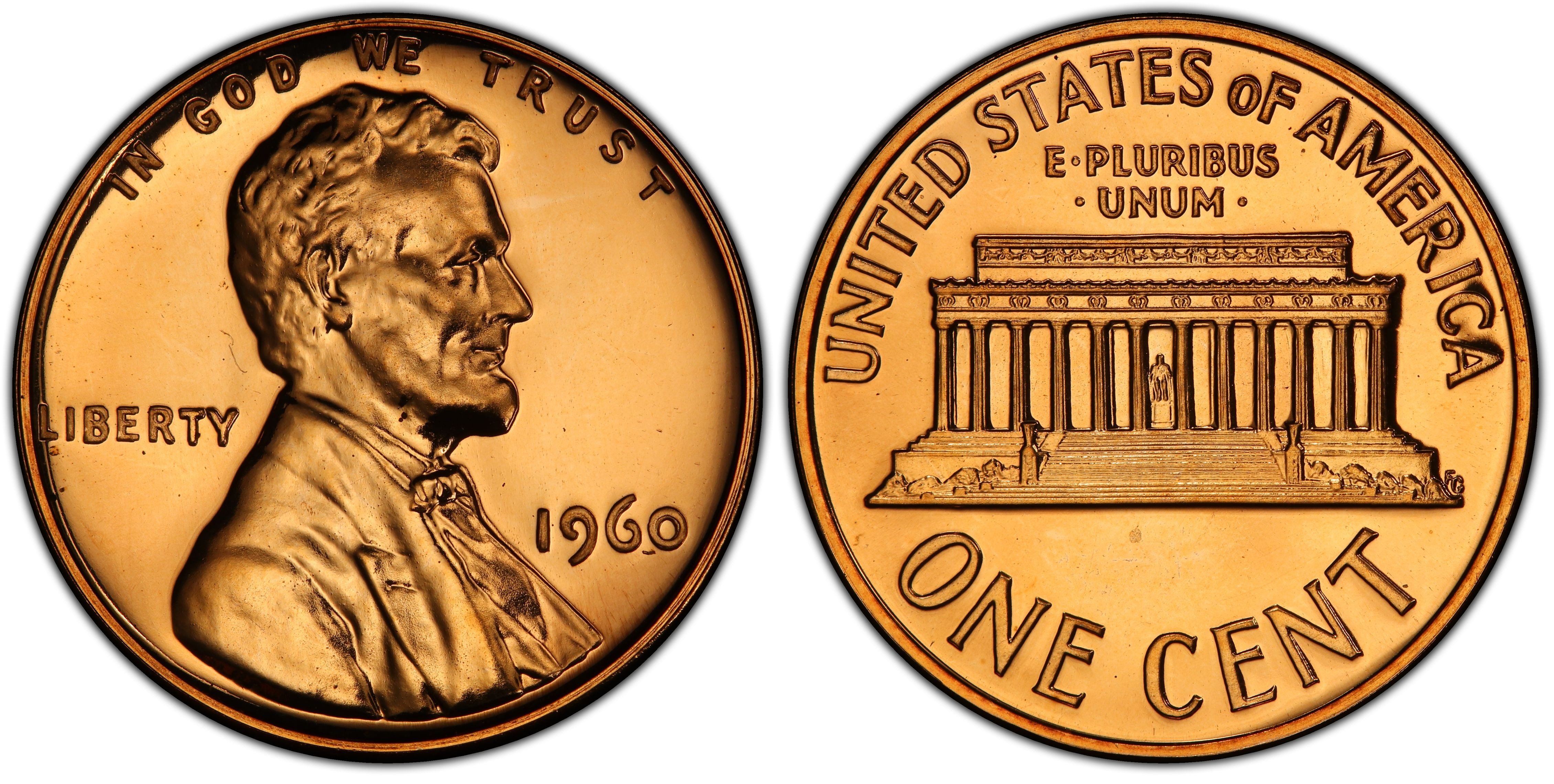 PENNY  BU RED PROOF 1960 P LINCOLN MEMORIAL CENT