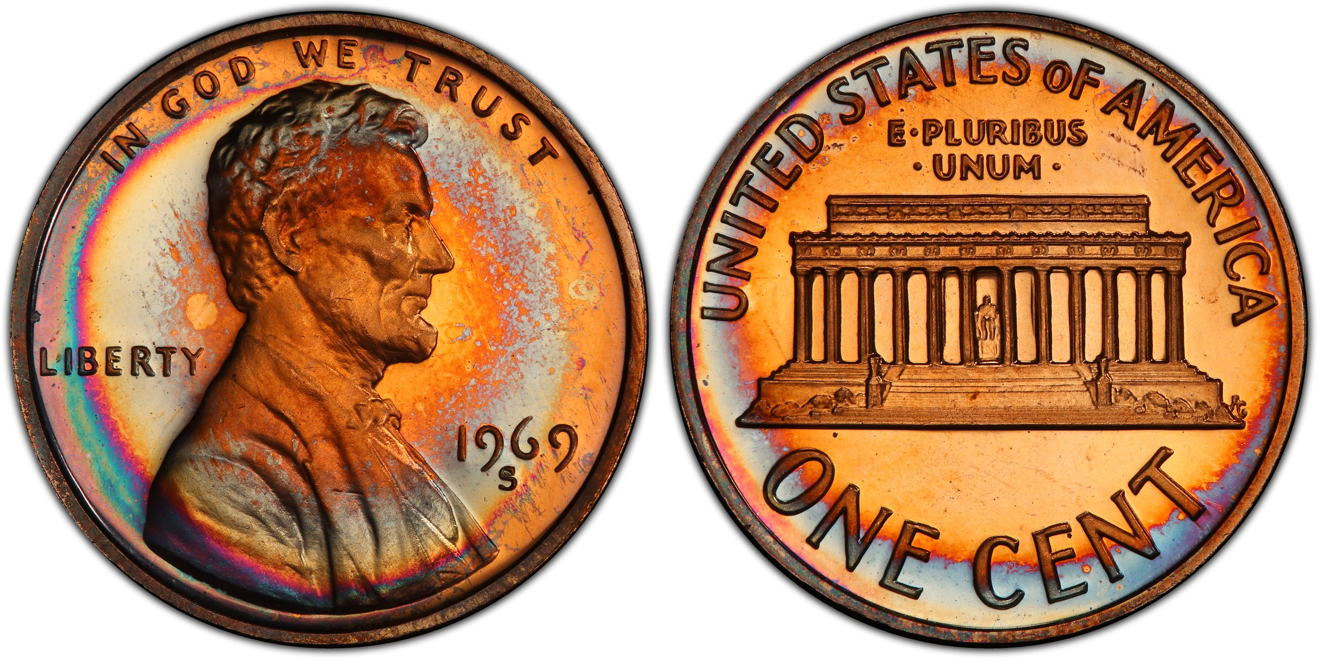 1988-S PCGS PR-69-RD-DCAM proof Lincoln cent deep cameo red