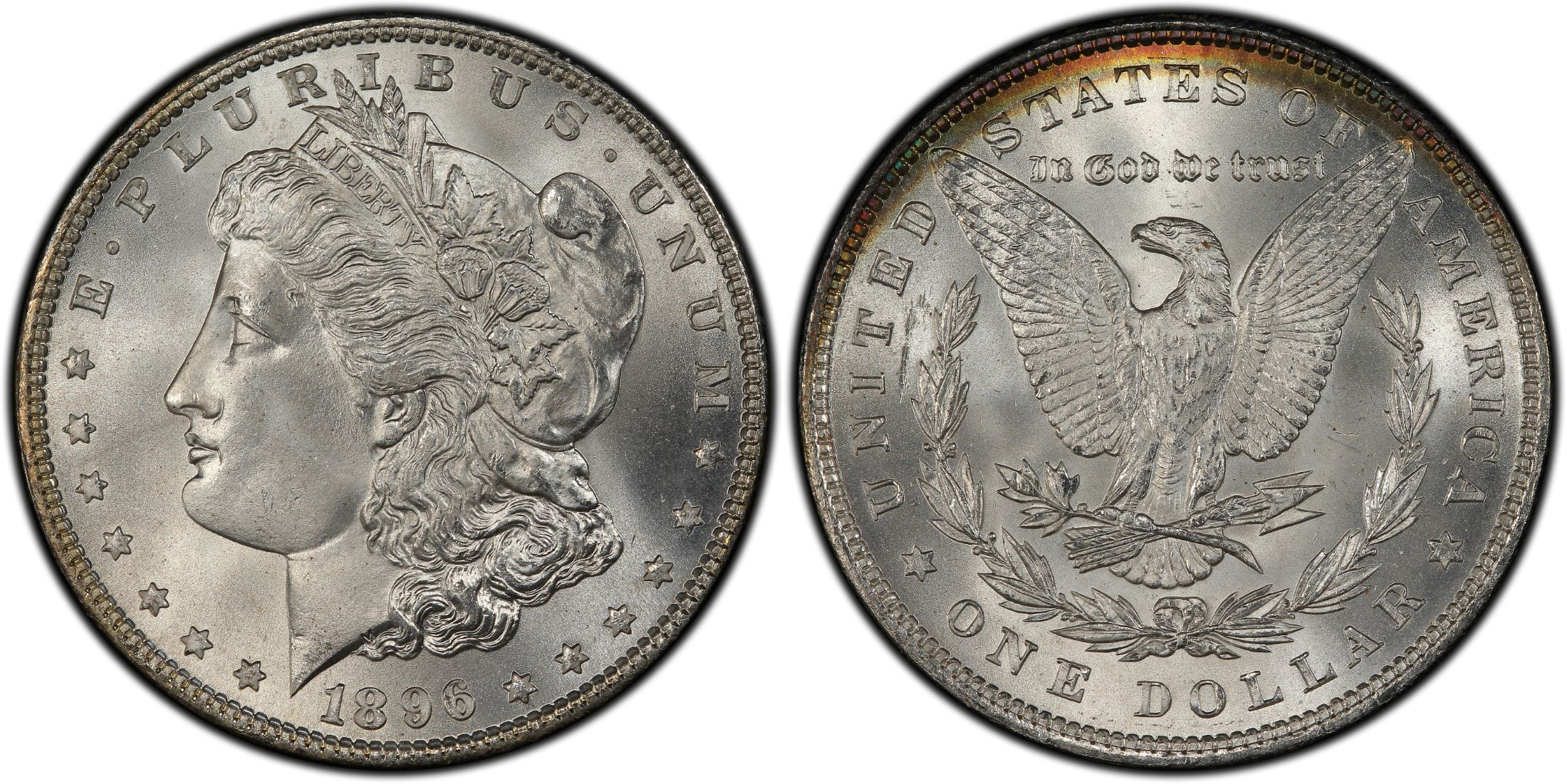 1896 US Morgan Silver Dollar $1 PCGS MS64