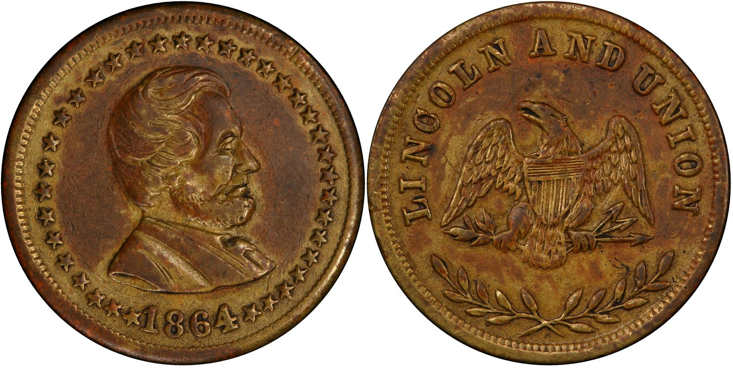 1864 lincoln and union coin