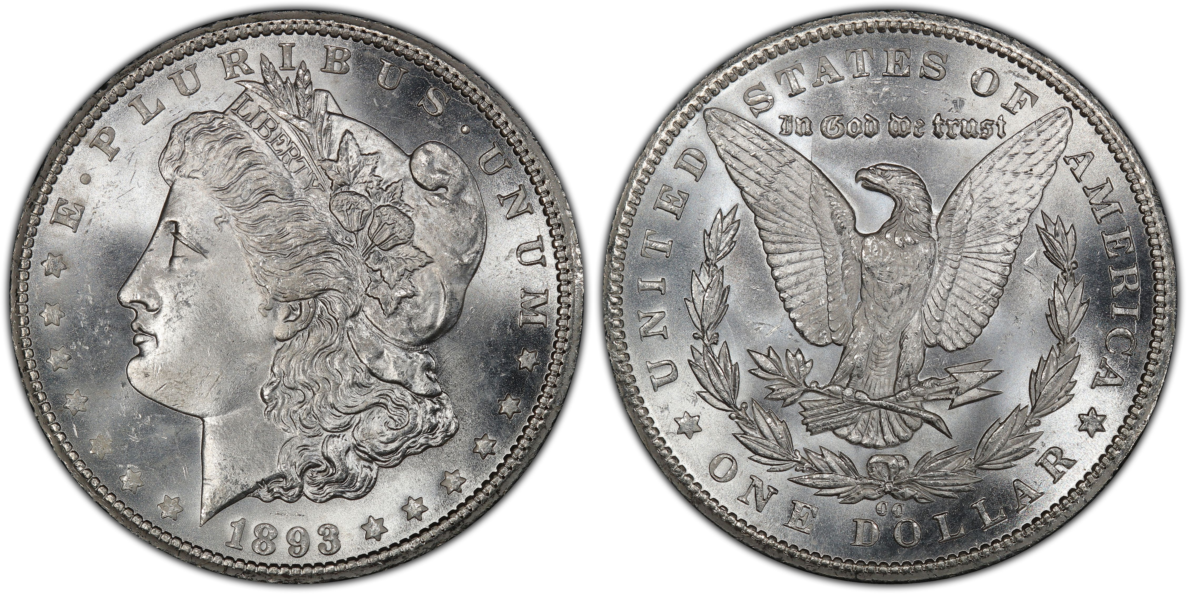 1883-o Blast White Unc Morgan Silver Dollar from a fresh Roll Will Grade Out