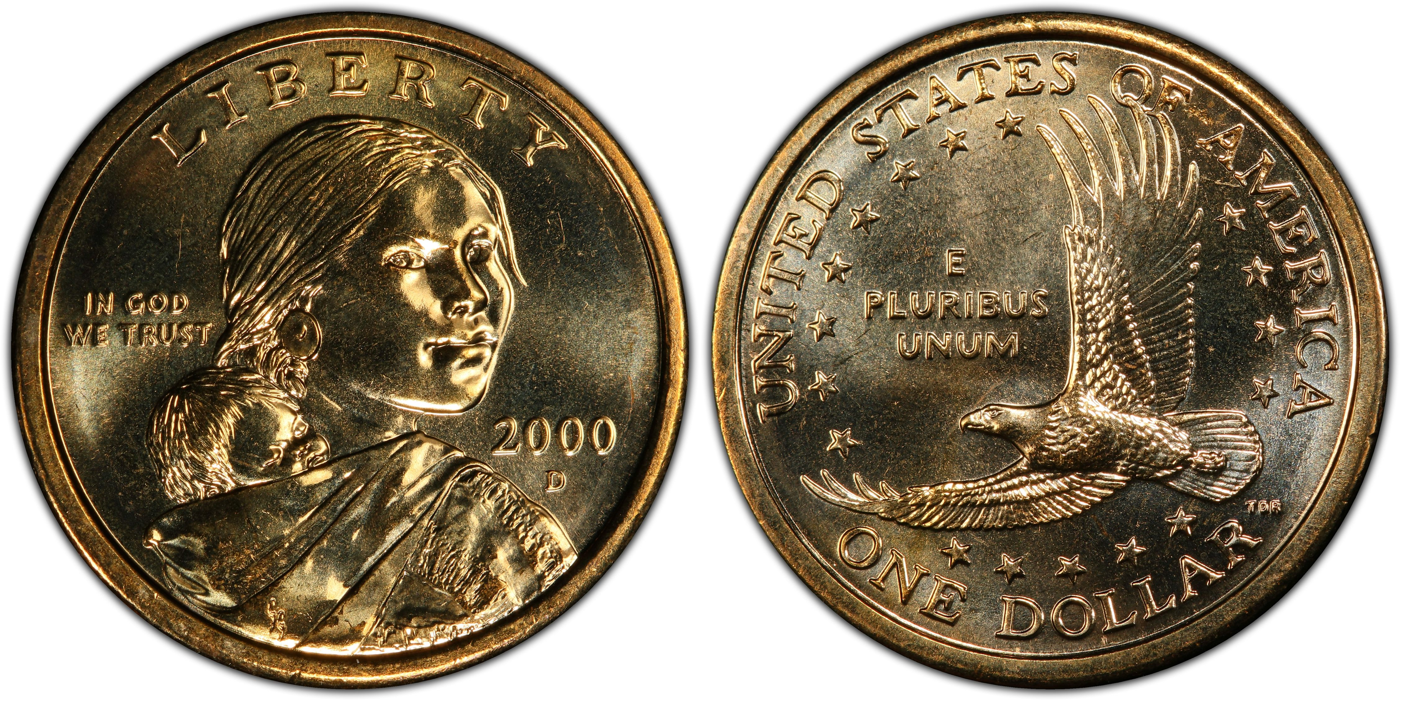 AMAZING CONDITON Will Grade Out Uncirculated 2000 P Sacagawea Gold Dollar