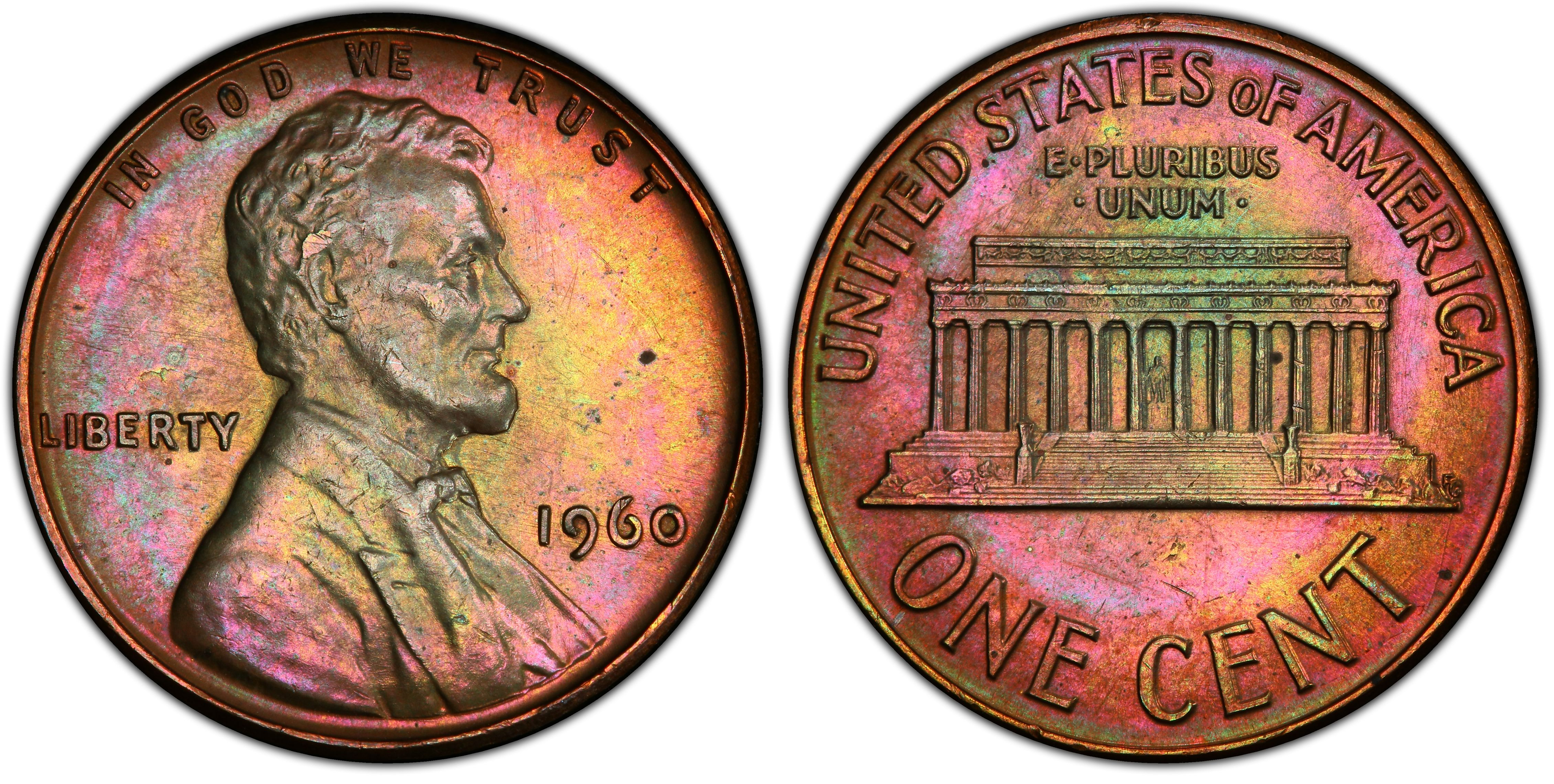 1960-D Small Date BU Uncirculated Lincoln Memorial Cent