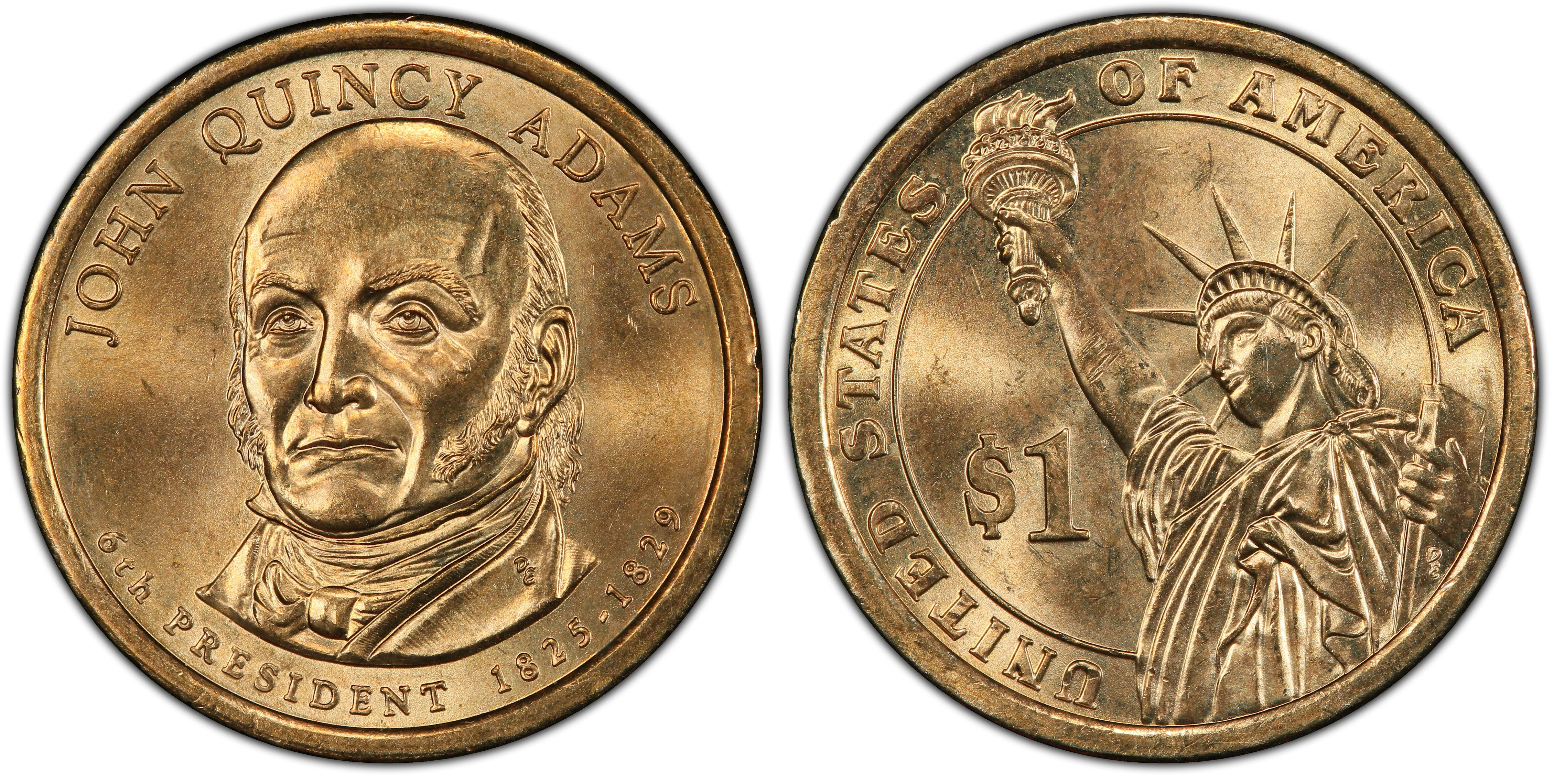 2008 P /& D 6th President John Quincy Adams MS67 First Day of Issue 2-Coin Set