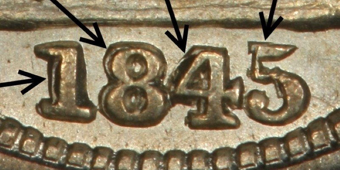 CLOSEUP OF REPUNCHED DATE FS-302