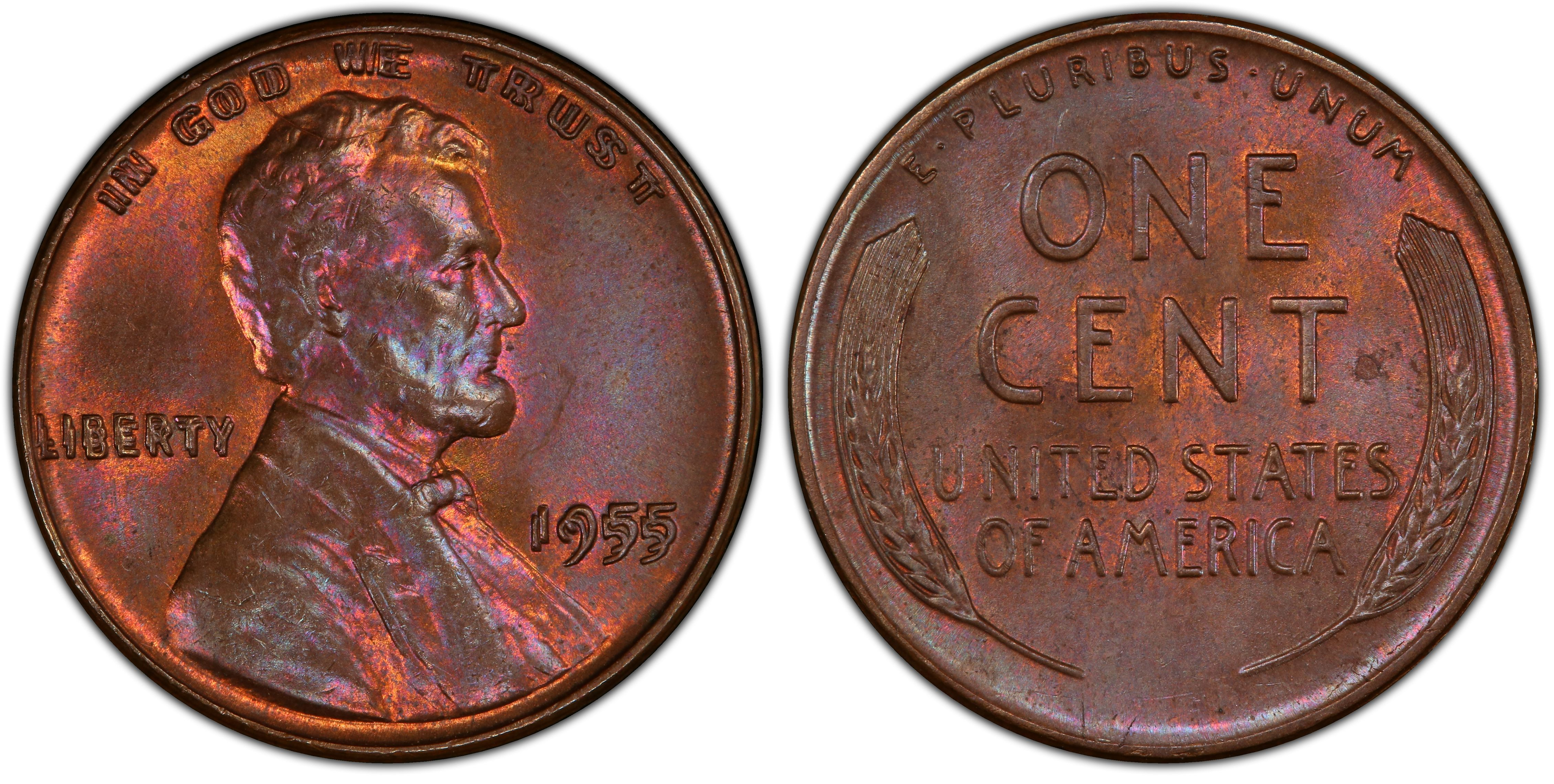 1 COIN 1955-S LINCOLN PENNY IN UNCIRCULATED  CONDITION  J-17-15