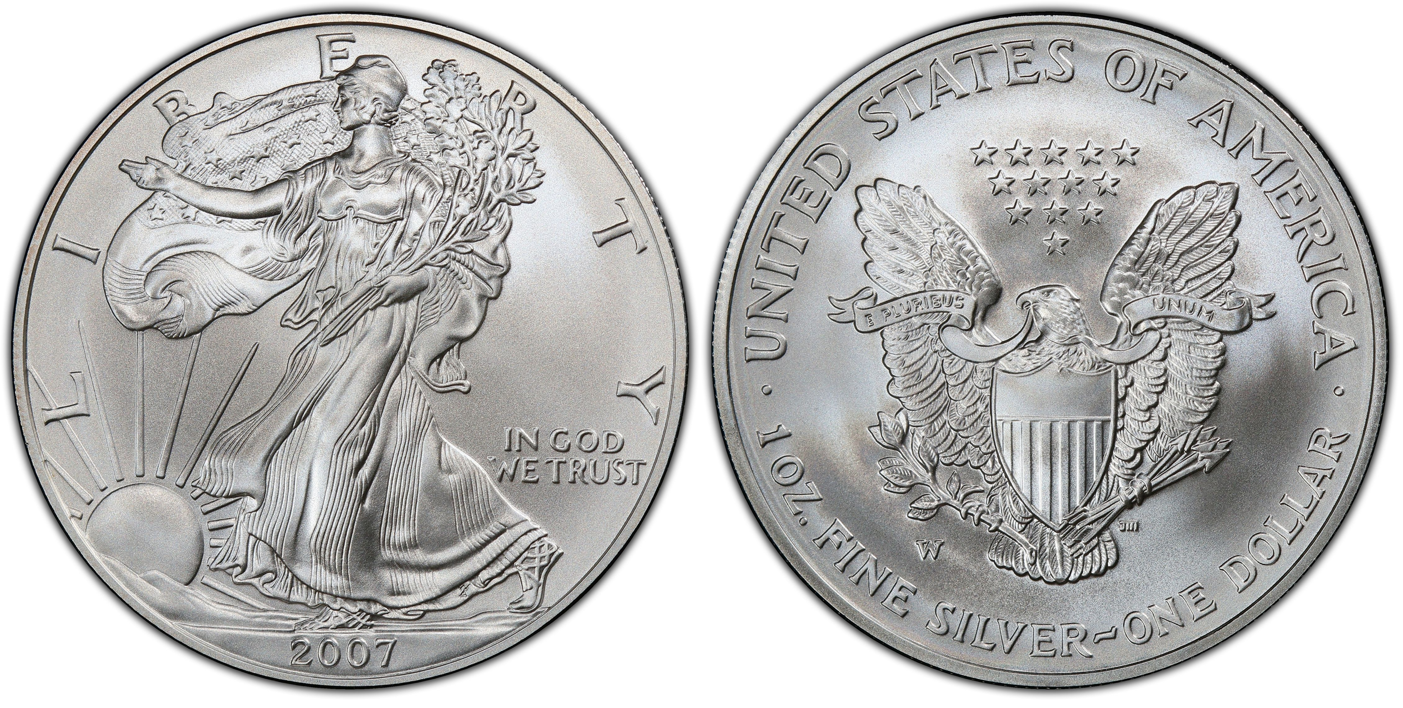 1oz Silver $1 2007 W NGC MS 69 Early Release Burnished Silver Eagle Dollar