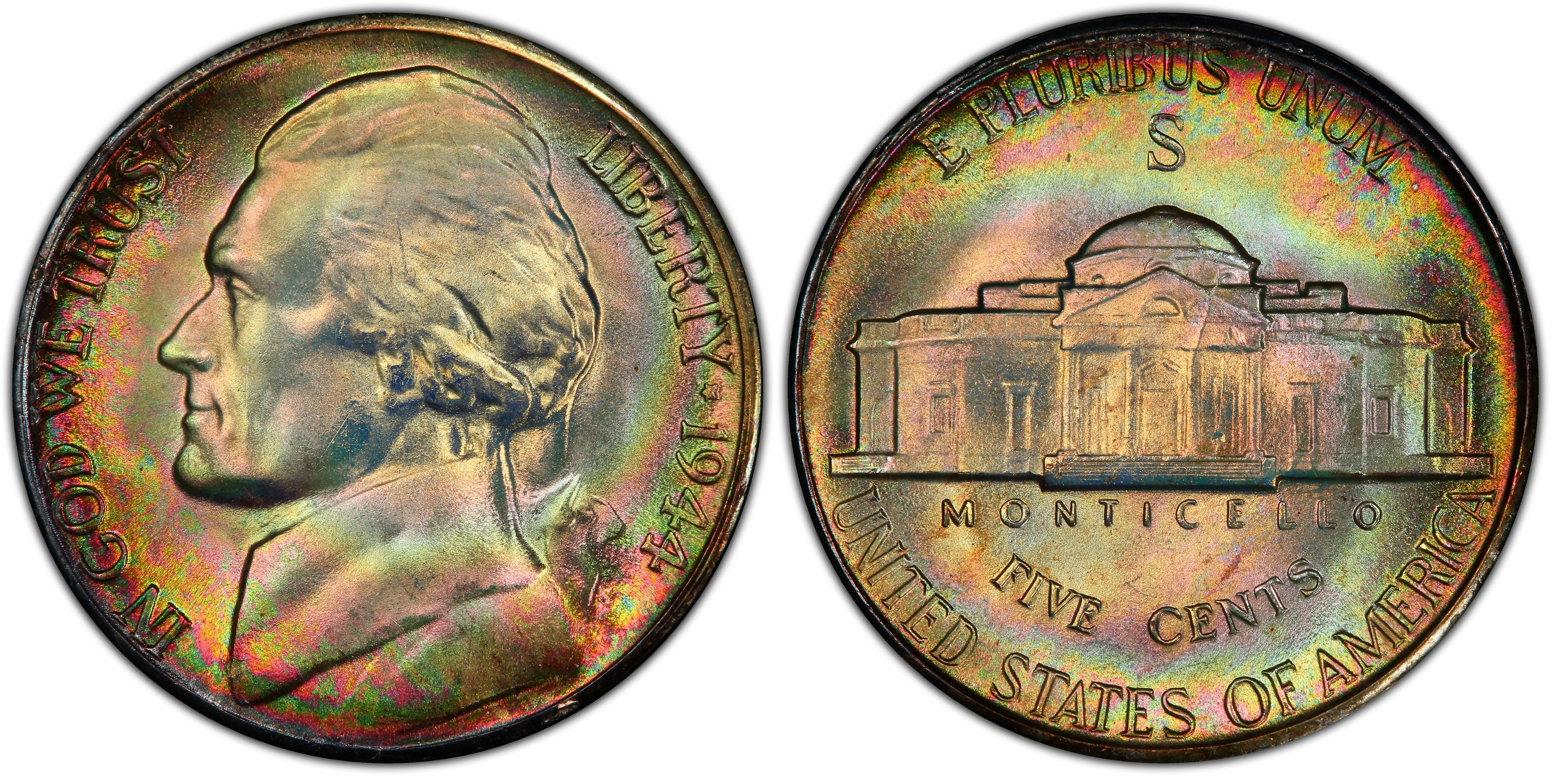 1980 S Cameo Proof Jefferson Nickel San Francisco Mint Five Cent Coin