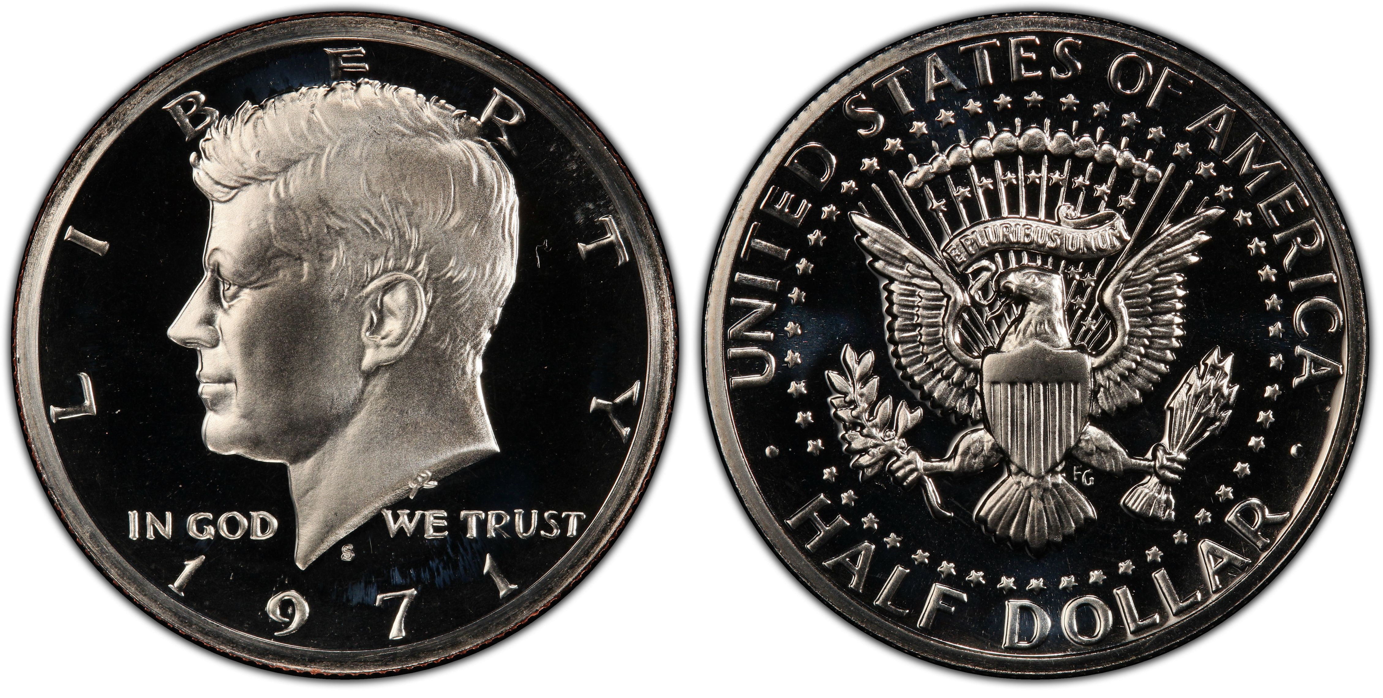 1970-S SILVER 1971-S TO 1980-S CLAD PROOF KENNEDY HALF DOLLARS TEN KENNEDY/'S