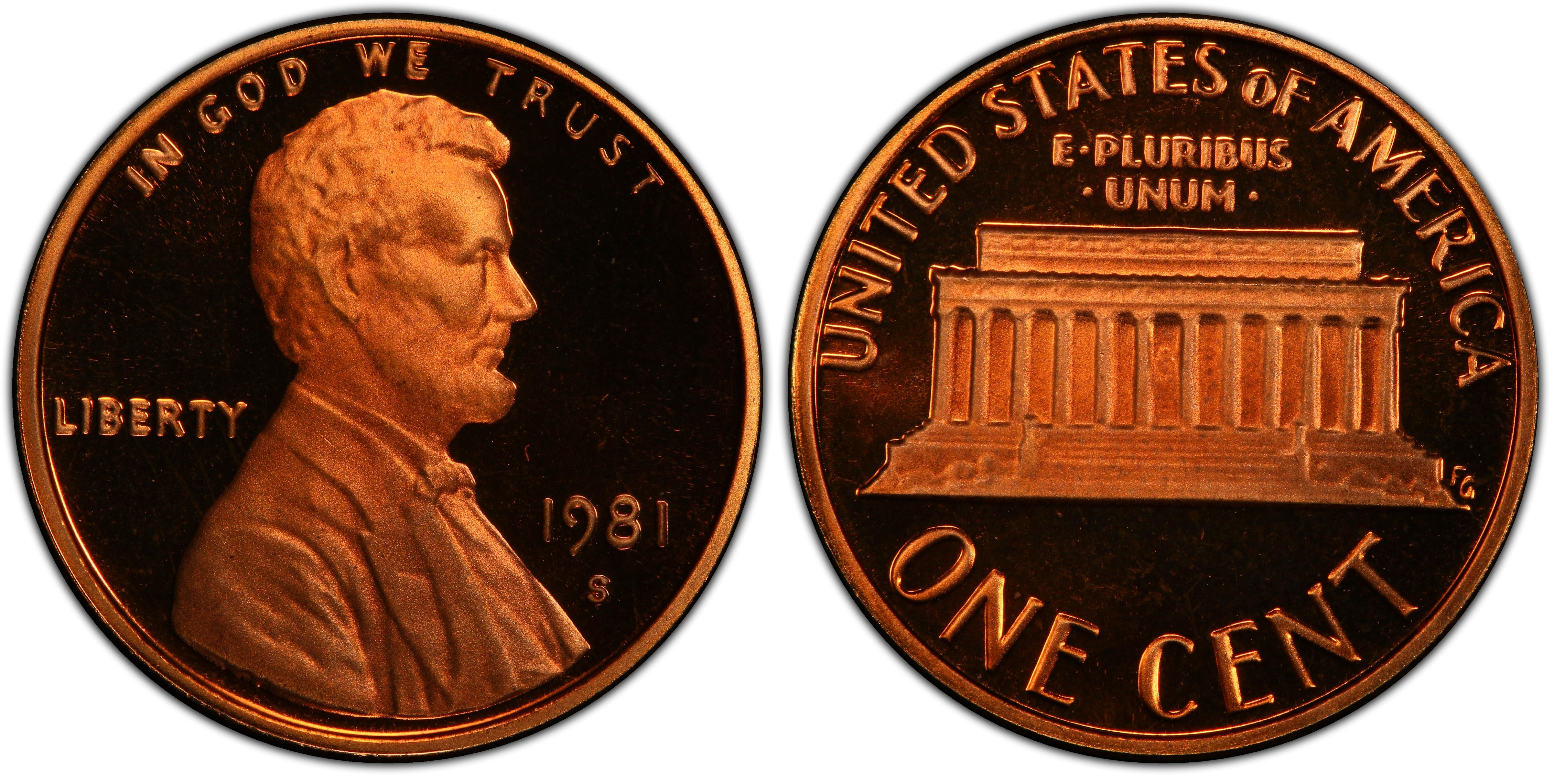 1981 S Lincoln Cent Type 2 Deep Cameo Gem Proof