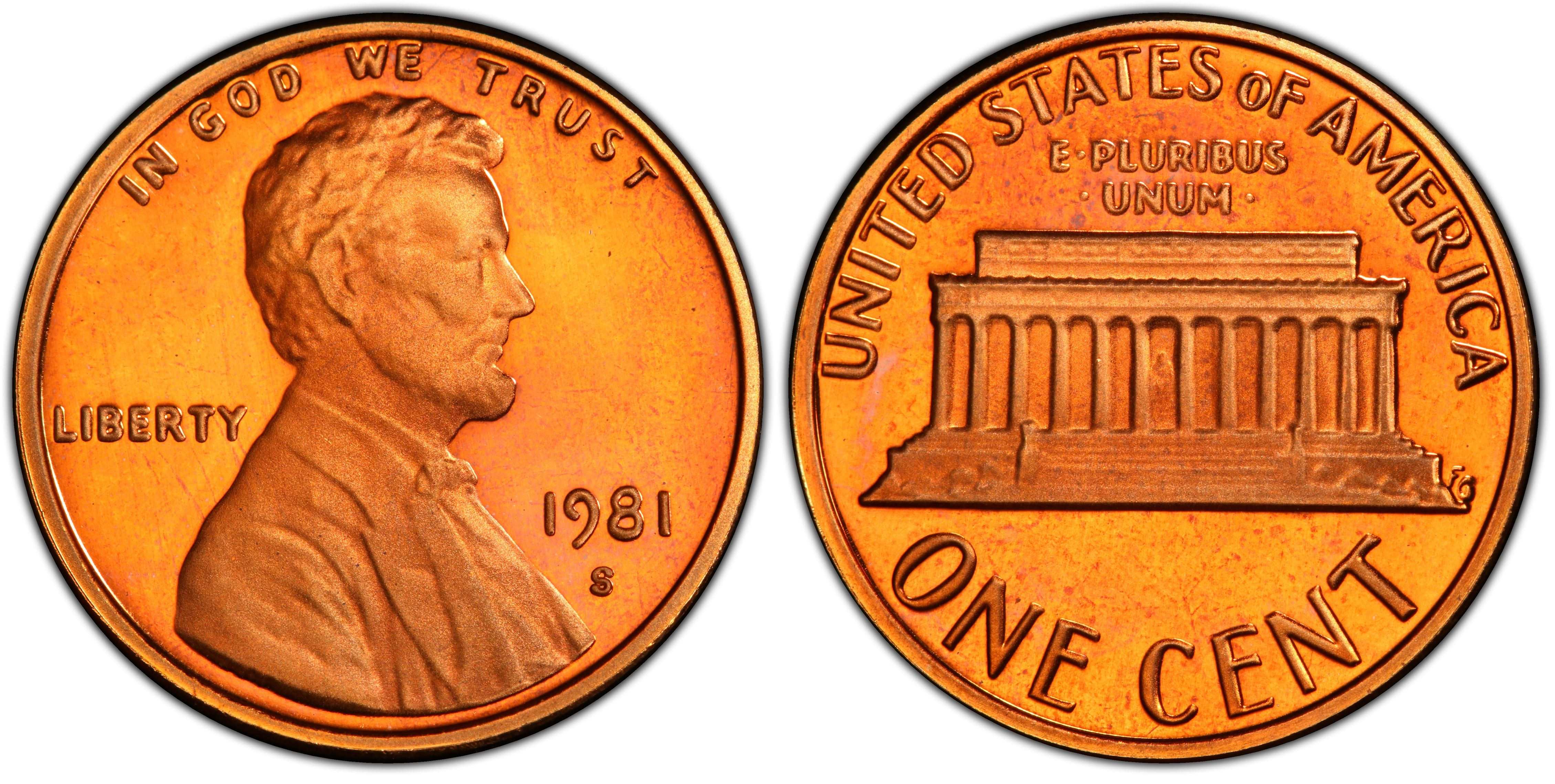 UNITED  STATES   1 Cent   1981 S   PROOF  *
