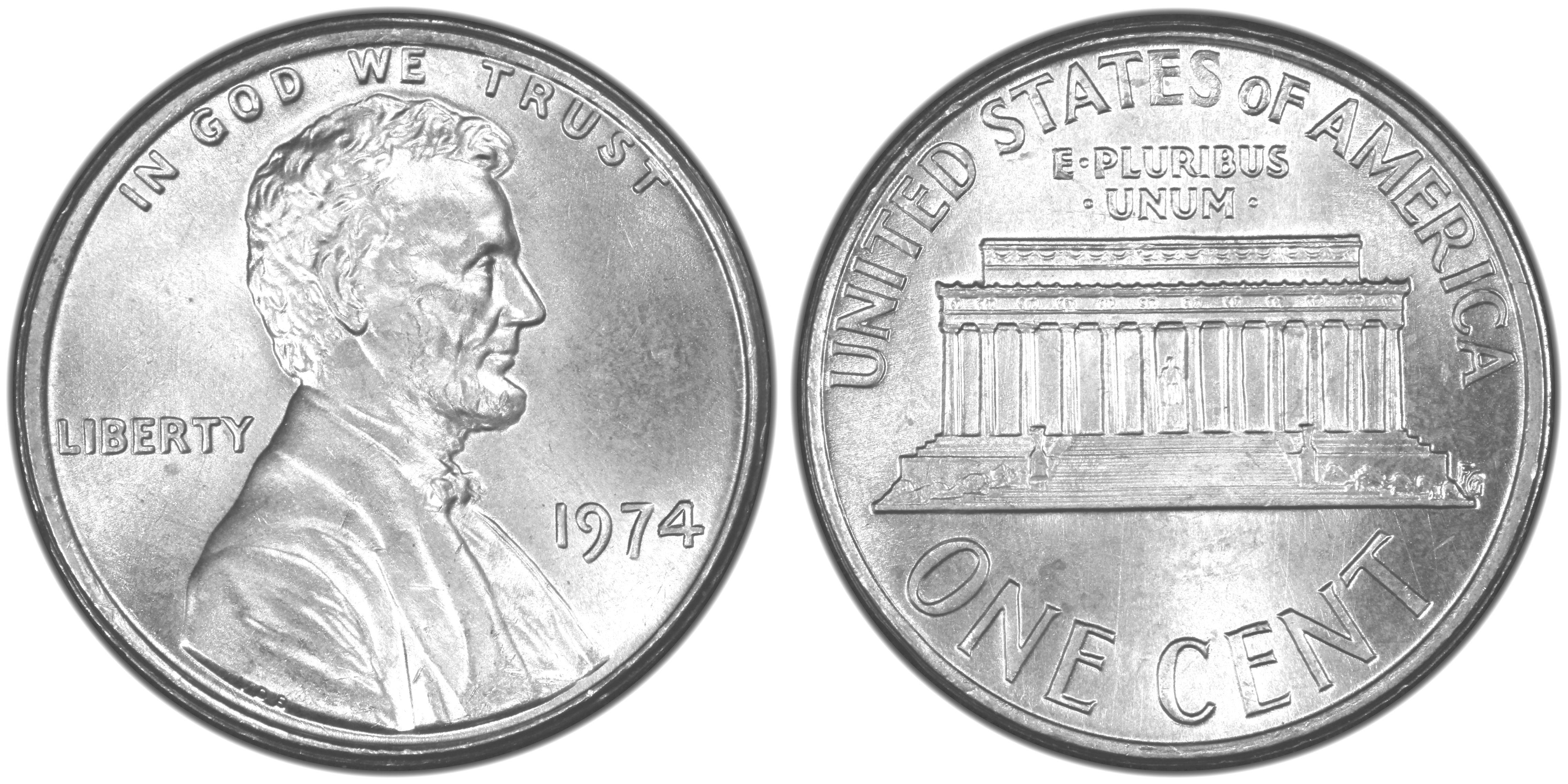 1974 1C Aluminum (Regular Strike) Lincoln Cent (Modern) - PCGS CoinFacts