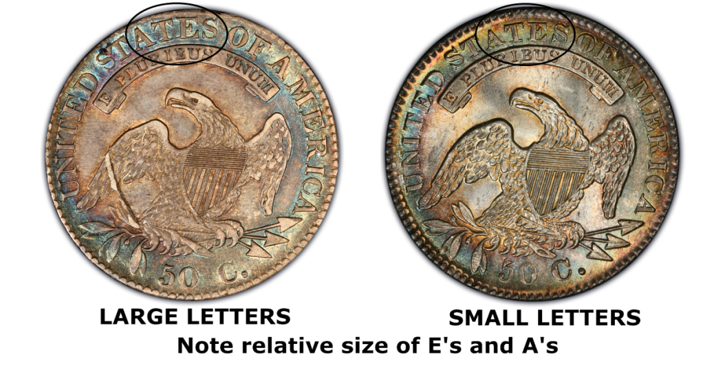 1832 50c Small Letters Regular Strike Capped Bust Half