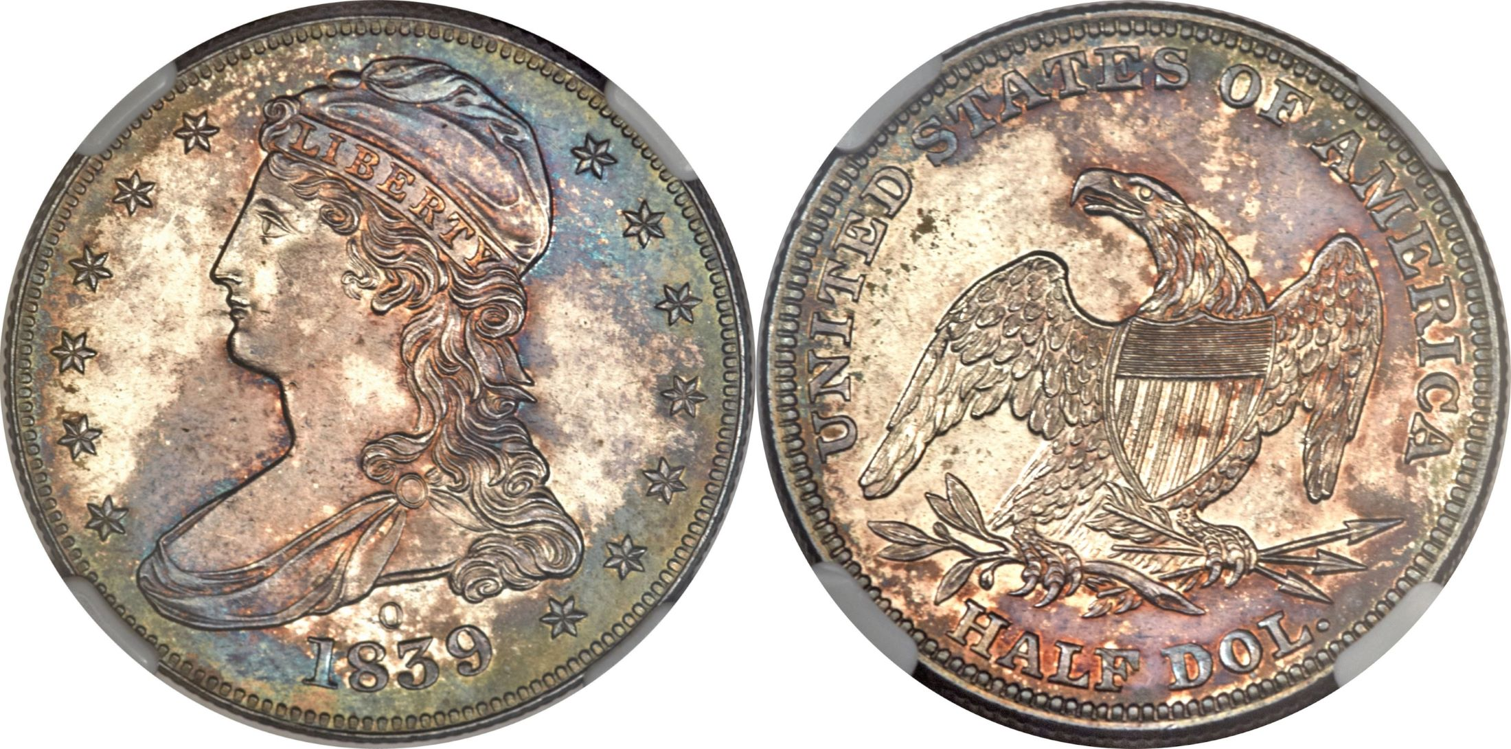 PR64 estimated grade<BR>Image courtesy of Heritage Numismatic Auctions