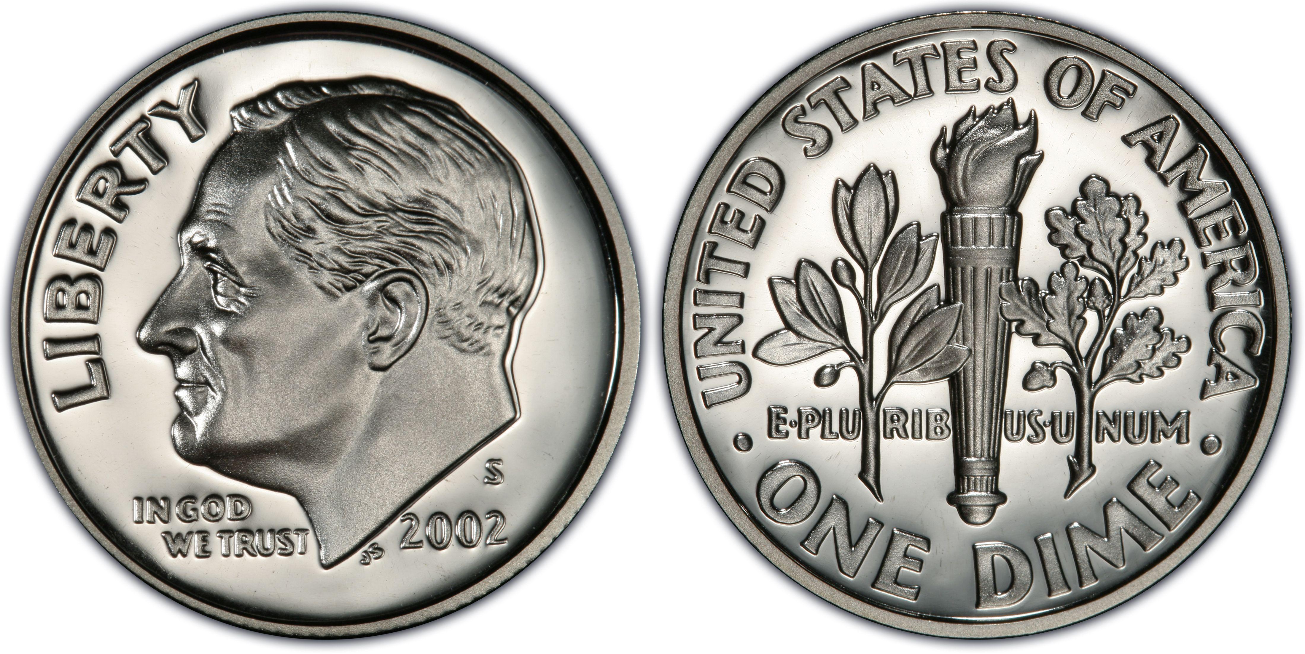 2002-S Roosevelt Dime Proof