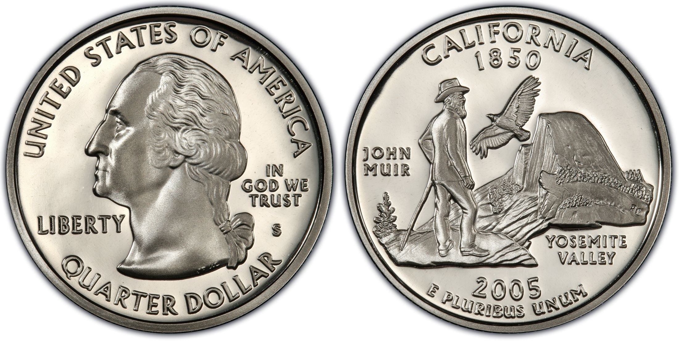 2005 S California Proof Quarter Deep Cameo Clad Combined Shipping