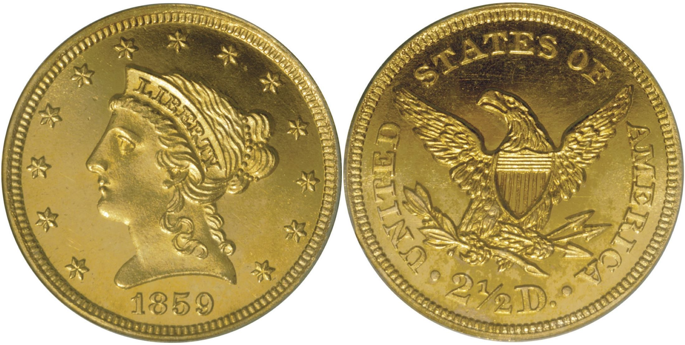 "PCGS PR66<BR>Ex Bass<BR>Image courtesy of <a href=""http://www.ha.com"" target=""_blank"">Heritage Numismatic Auctions</a>"