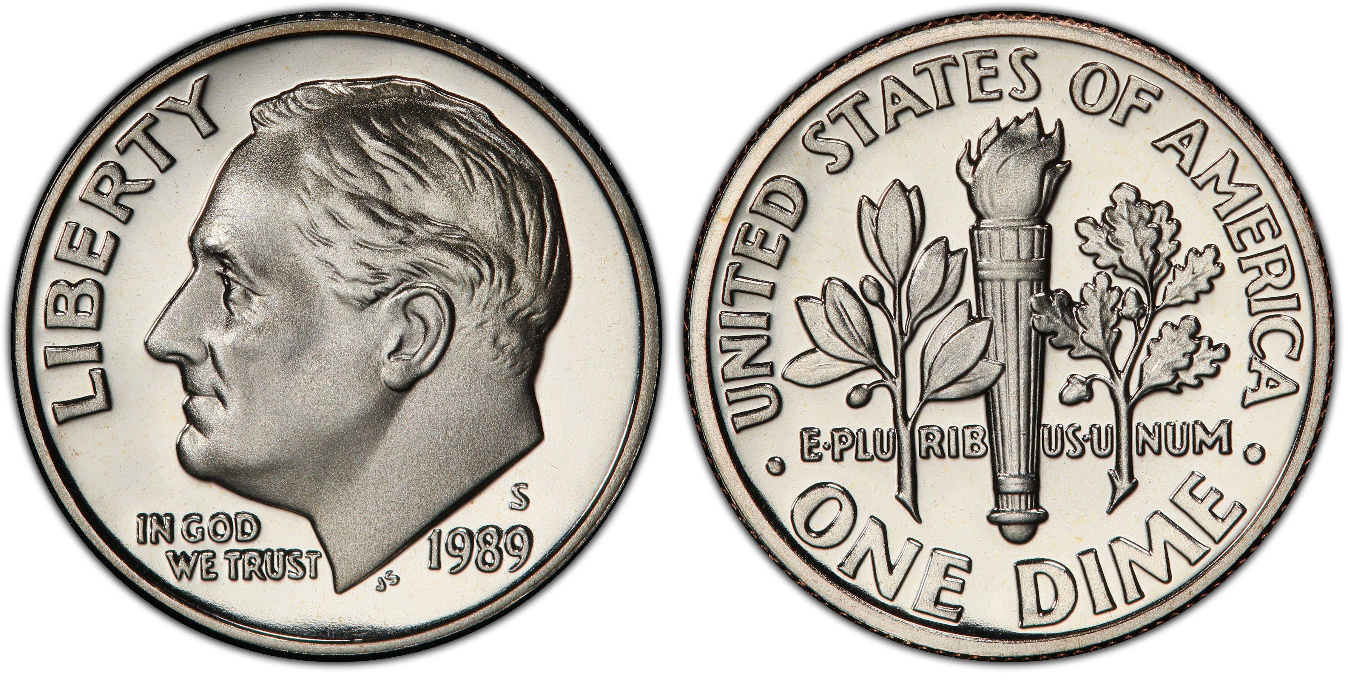 1989 S 10 CENT ROOSEVELT DIME PROOF UNITED STATES COIN VINTAGE COLLECTIBLE