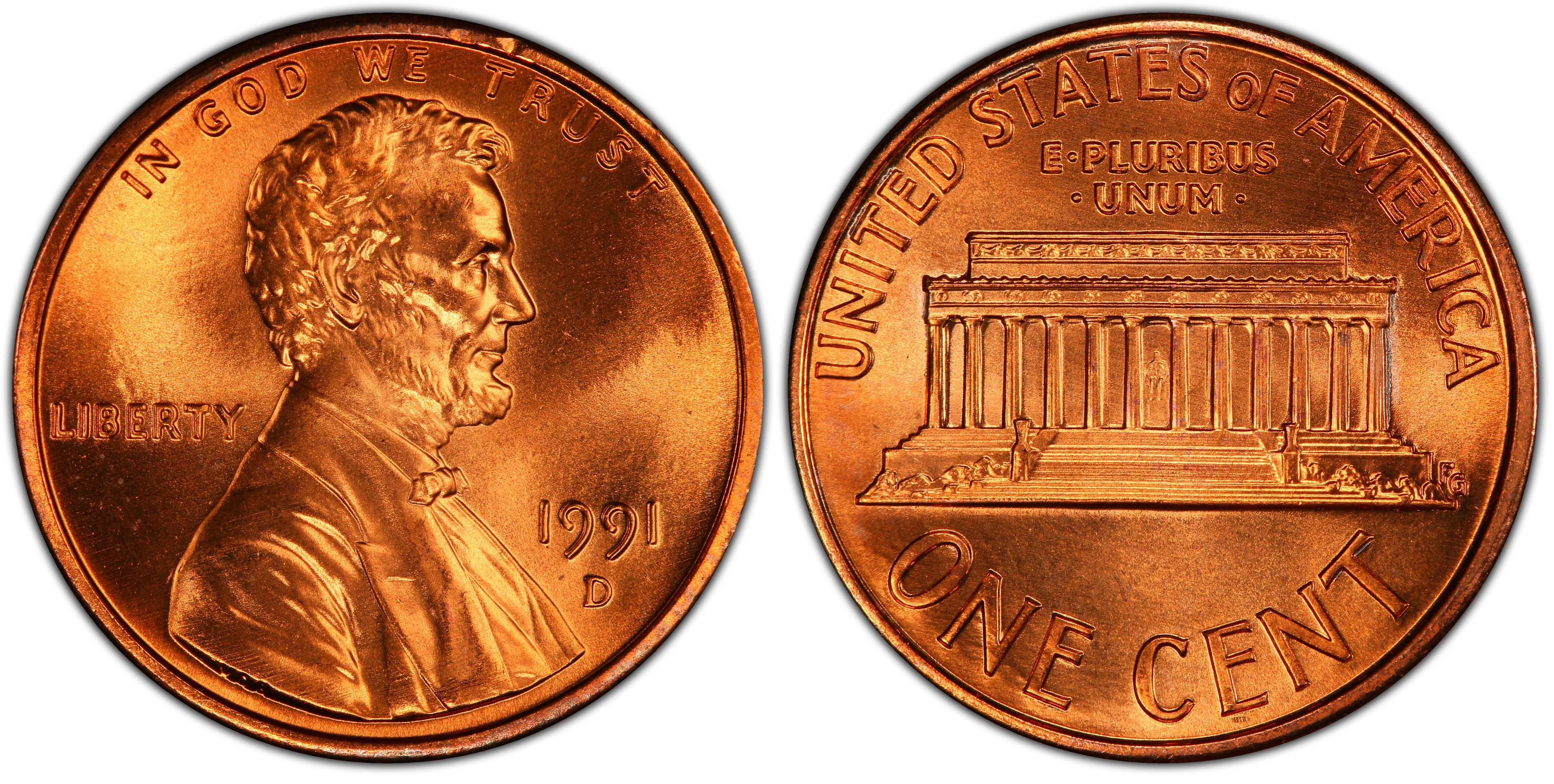 1991-D LINCOLN CENT NGC MS68RD