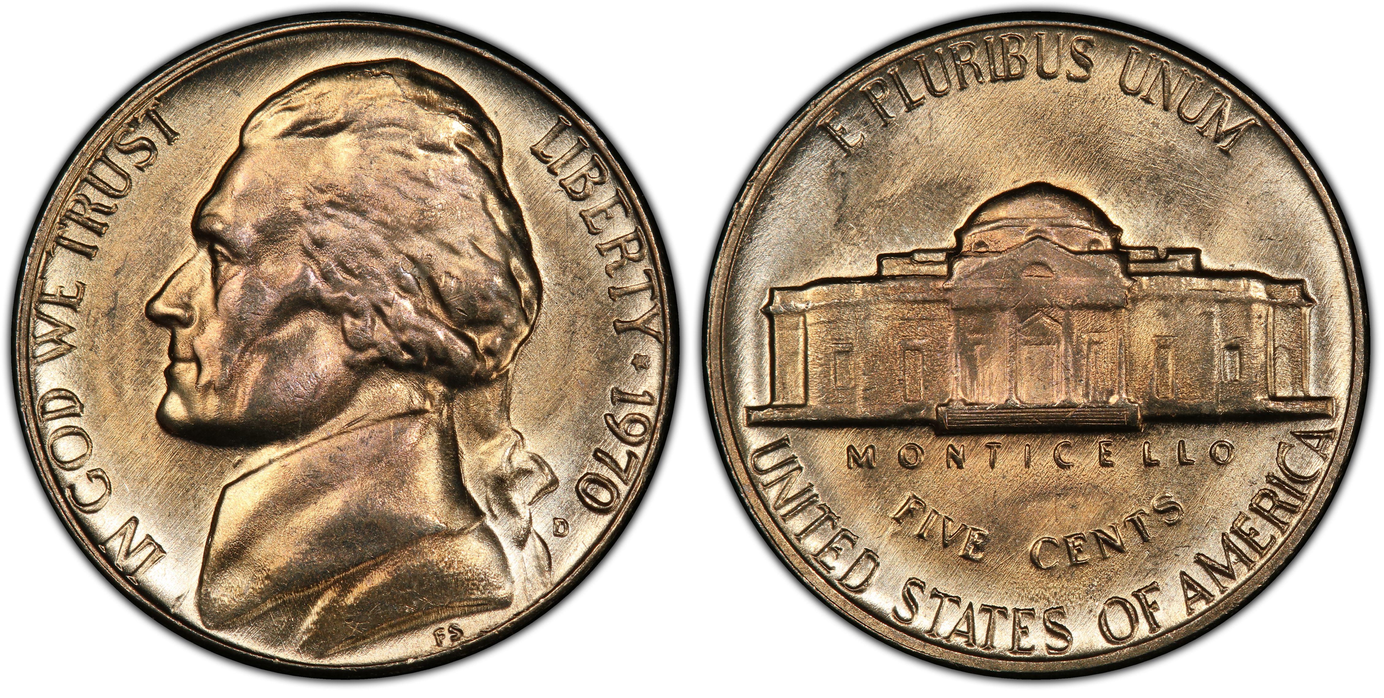 1970-D 5C, FS (Regular Strike) Jefferson Nickel - PCGS CoinFacts